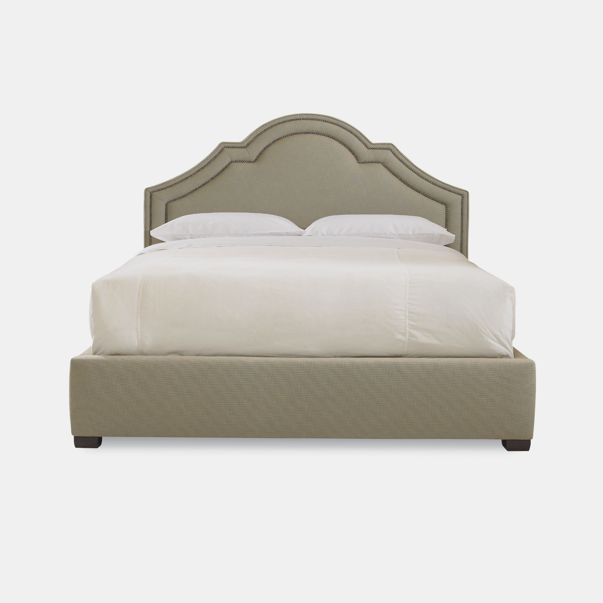 "Madison Bed  68-3/4""w x 88-1/8""l x 60-1/8""h (queen) Available in twin, full, queen, california king, and eastern king. Also available as headboard. SKU23898BHT"