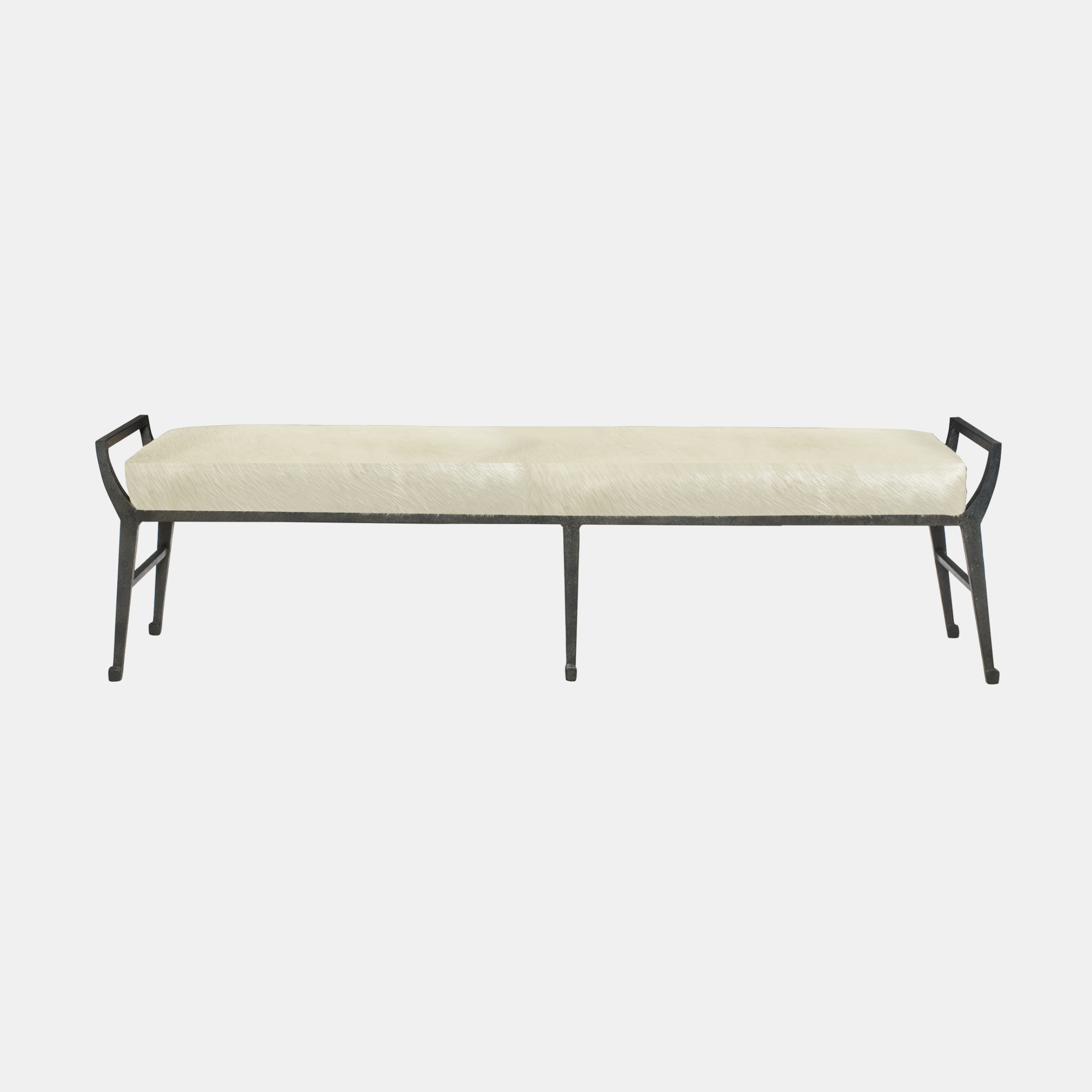 "Mansfield Bench  61.5""w x 18""d x 17.5""h Available in fabric and leather. SKU5920BHT"