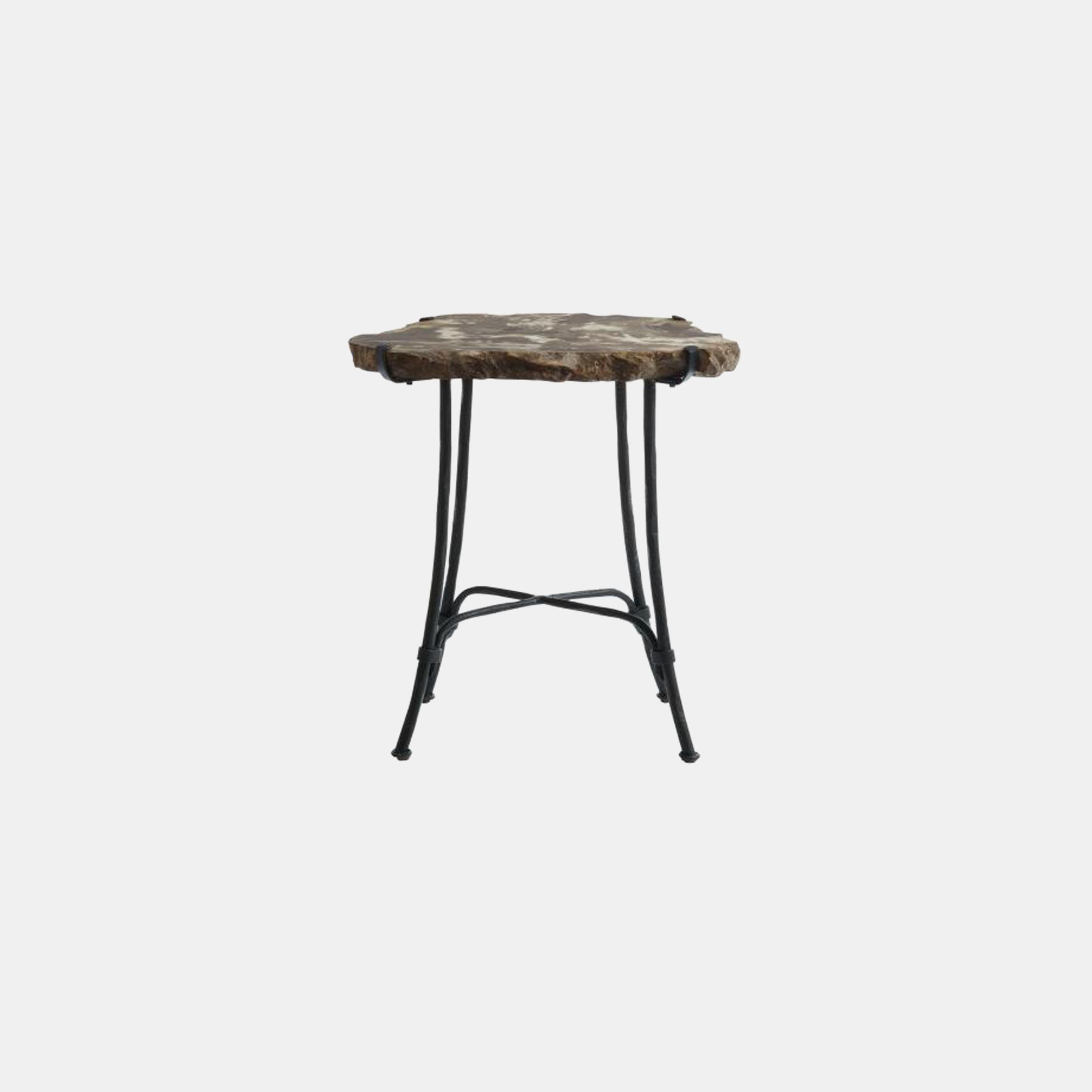 """Petrified Slab Side Table  16-22"""" round x 23""""h SKU7734BHT"""