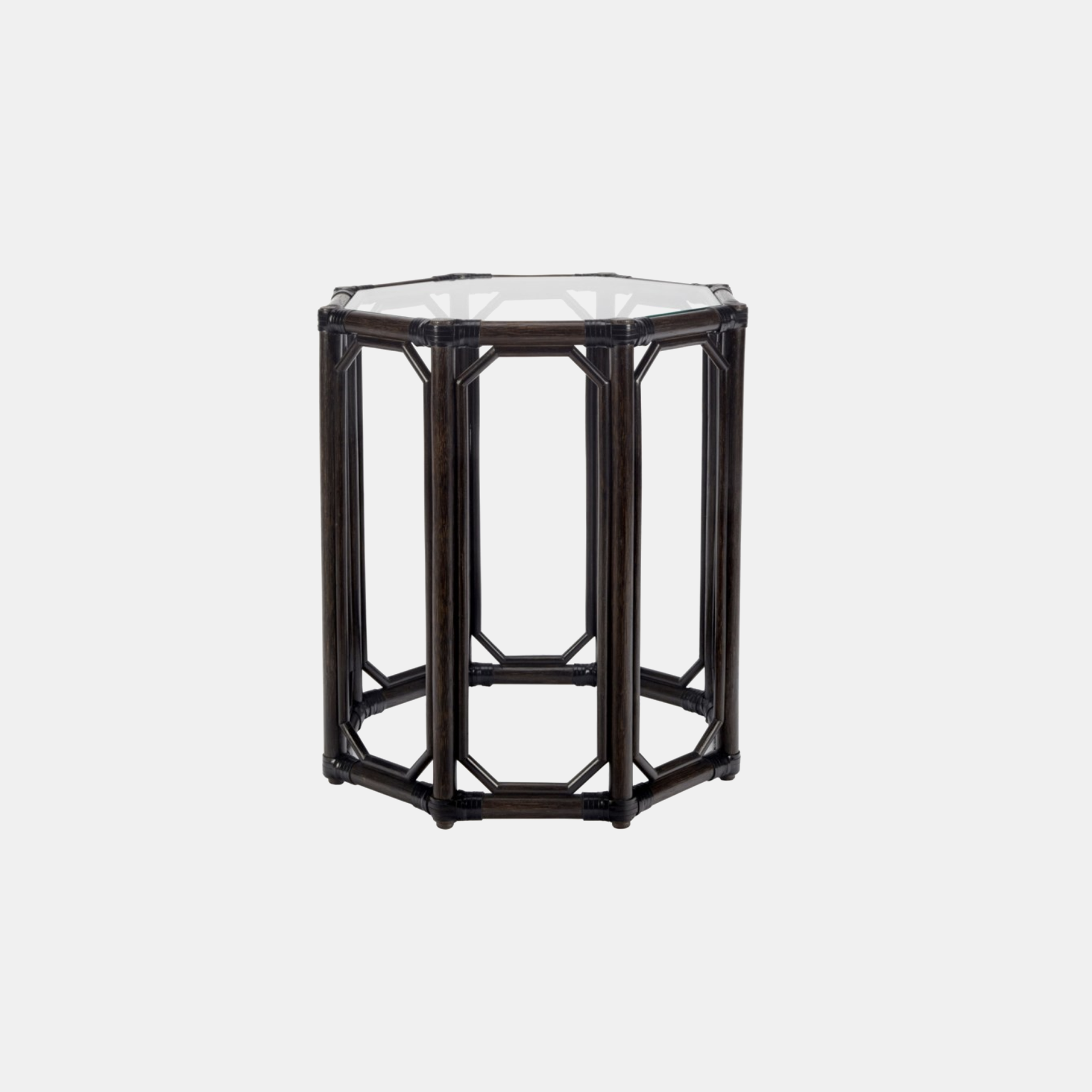 """Regeant Octagonal Side Table  19.5"""" round x 22"""" h Available in clove (shown), cinnamon, nutmeg, and white. Also available as square side table. SKU4456SLM"""