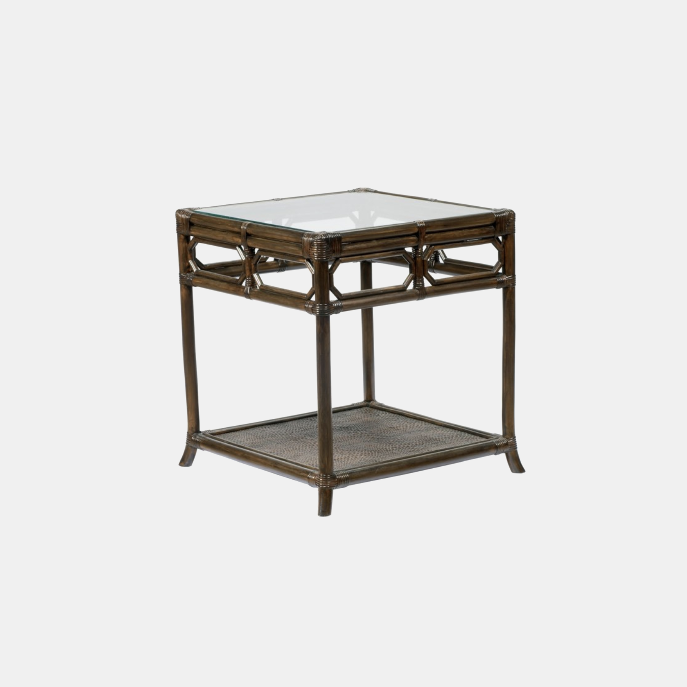"""Regeant Square Side Table  20"""" square x 22"""" h Available in clove (shown) and nutmeg. Also available as octagonal side table. SKU1093SLM"""