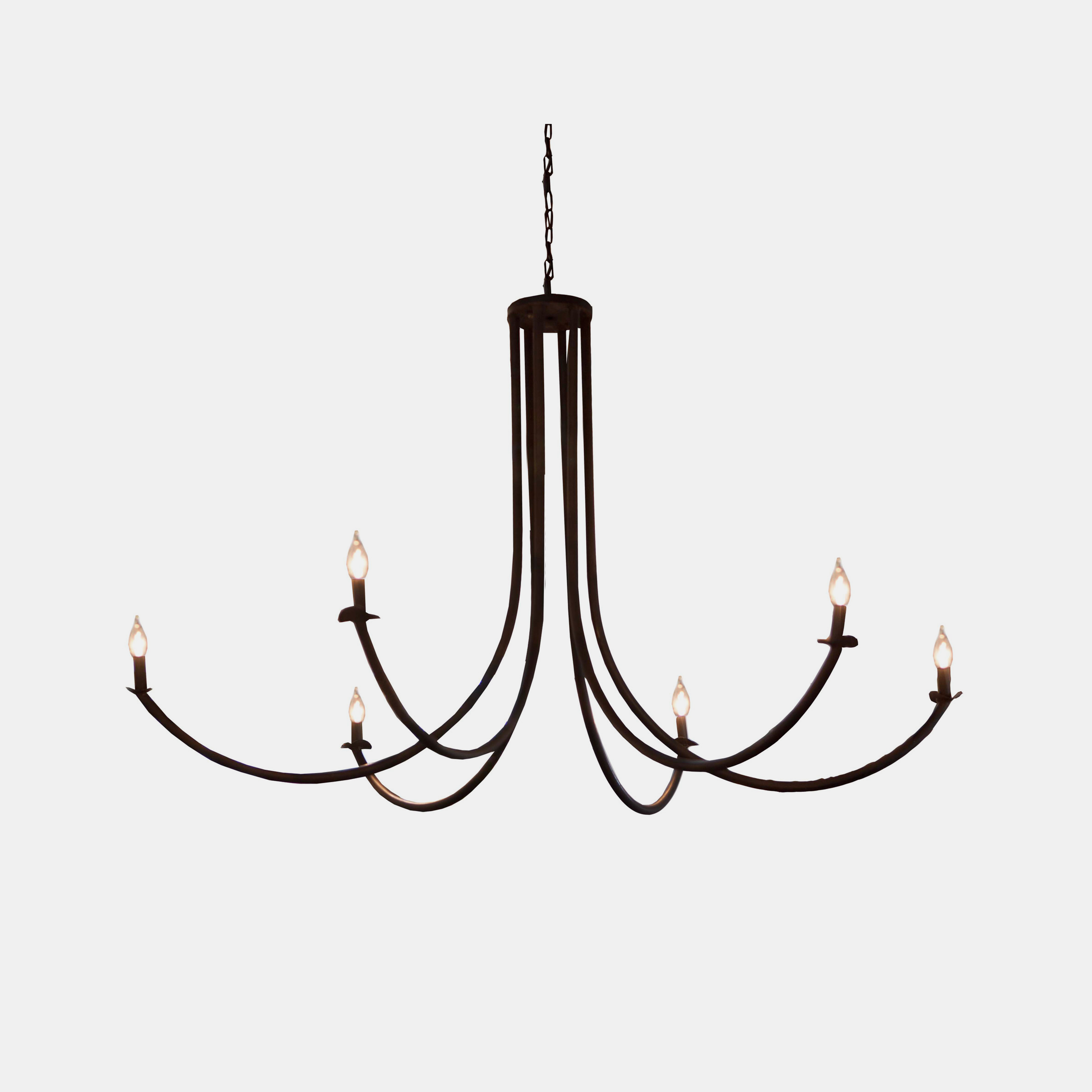 "Ramo Chandelier  54""w x 54""d x 32""h Available in rust or flat black. SKU5562CUY"