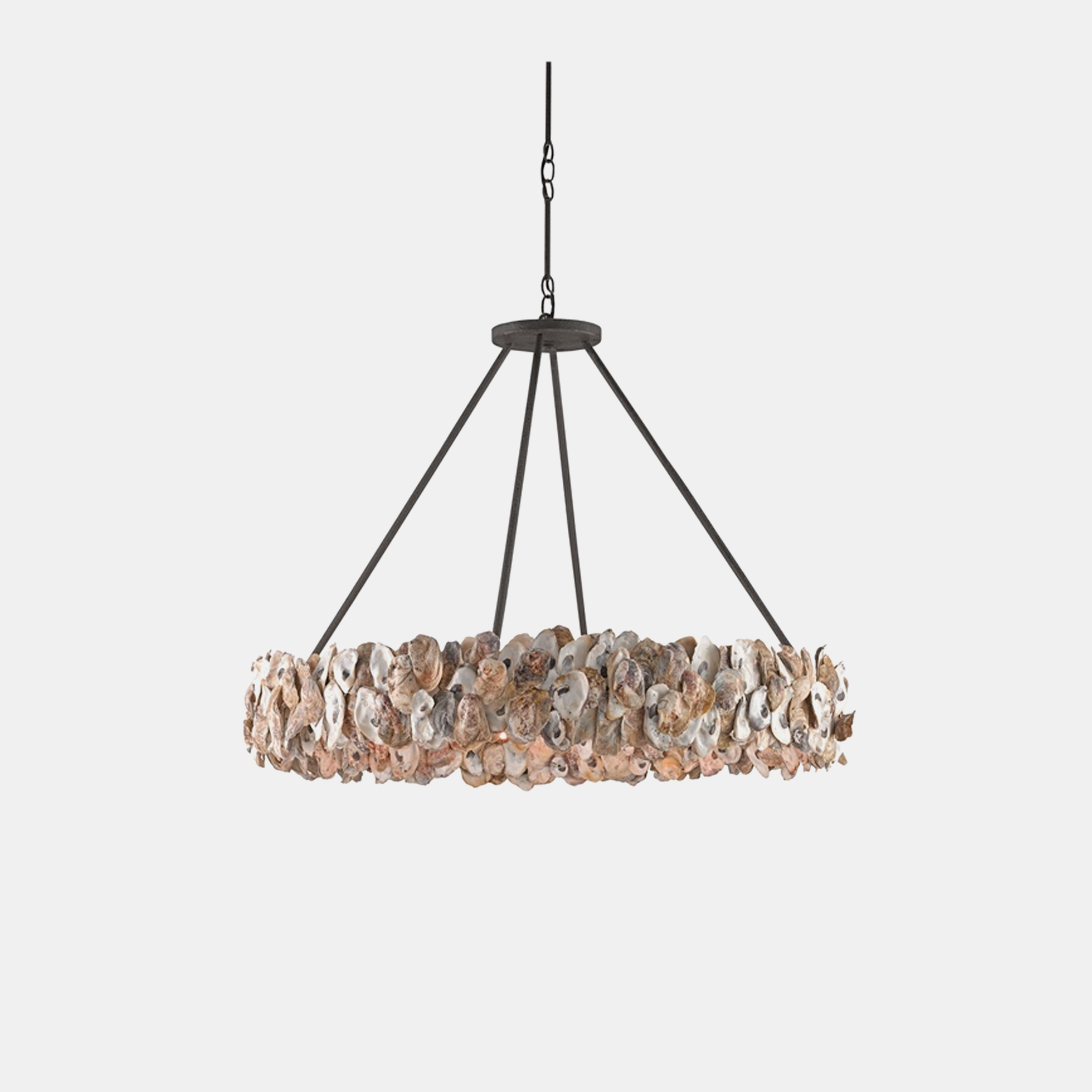 "Oyster Circle Chandelier  38"" round x 28.25""h, adjustable from 28.25""–79.25""h SKU0987CUY"