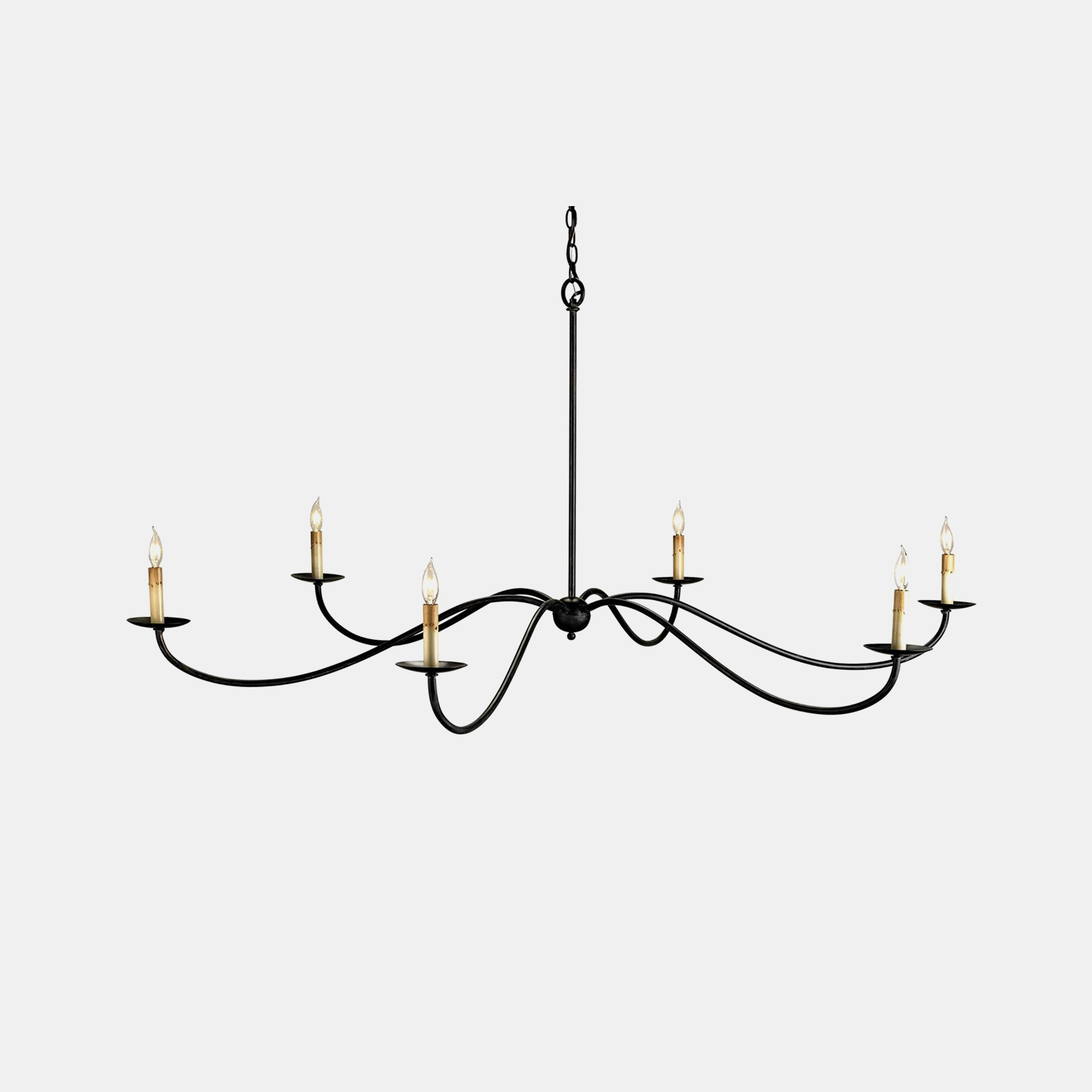 "Saxon Chandelier  63"" round x 29""h Available in black (shown) or silver.  SKU57323CUY"