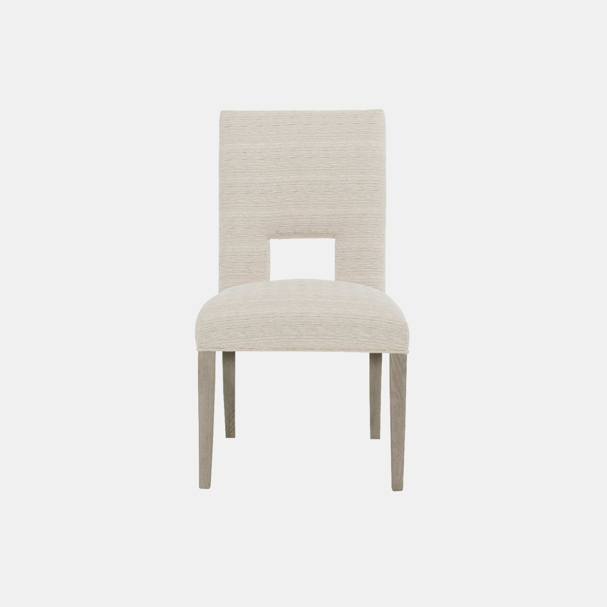 "Mosaic Side Chair  21-1/2""w x 26-3/4""d x 38""h Available in fabric, leather, or COM. Also available as arm chair and without opening. SKU0081BHT"