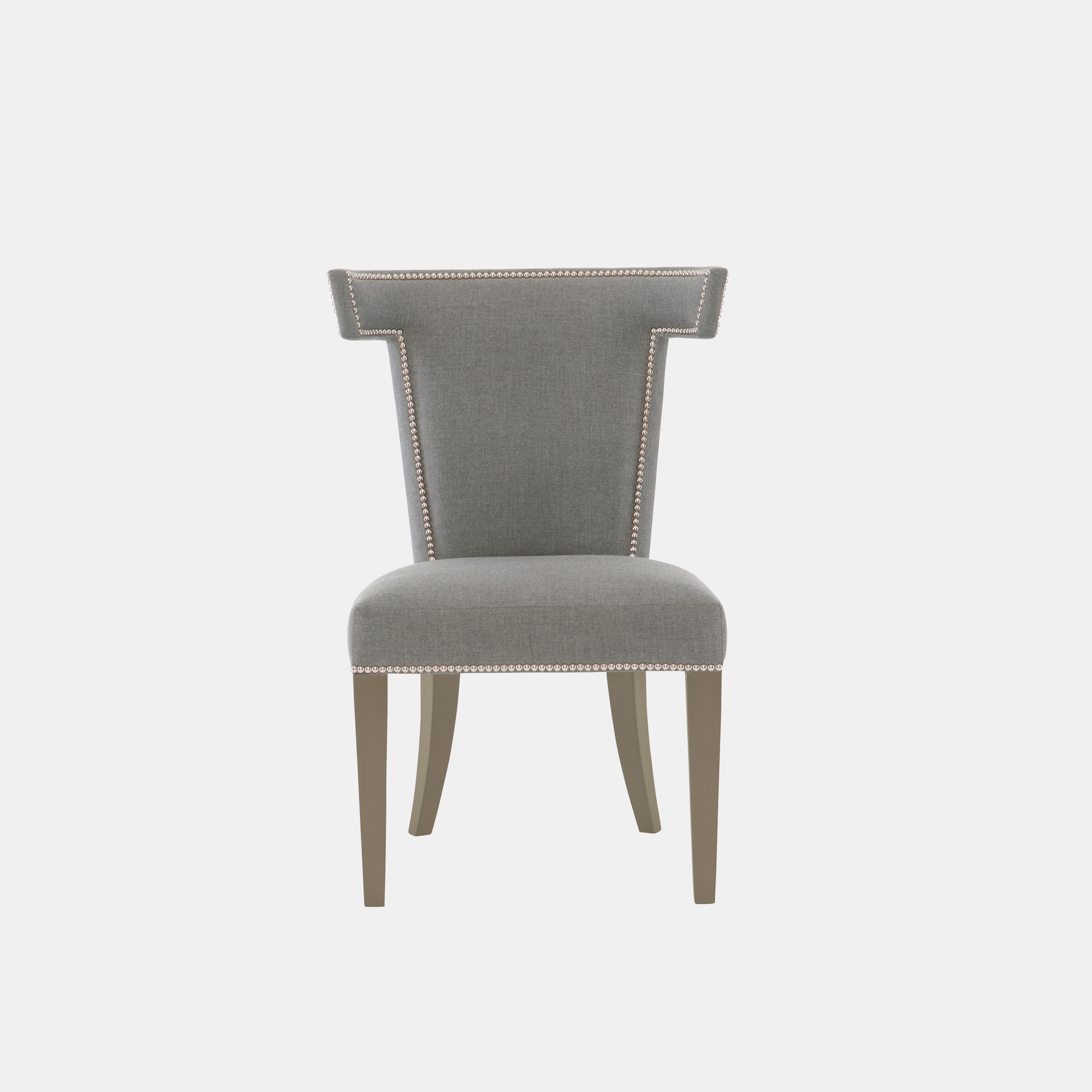 "Remy Side Chair  25-5/8""w x 25-3/8""d x 36-3/4""h Legs available in cocoa and smoke (shown). Available in fabric, leather, or COM. Also available as ottoman. SKU2209BHT"