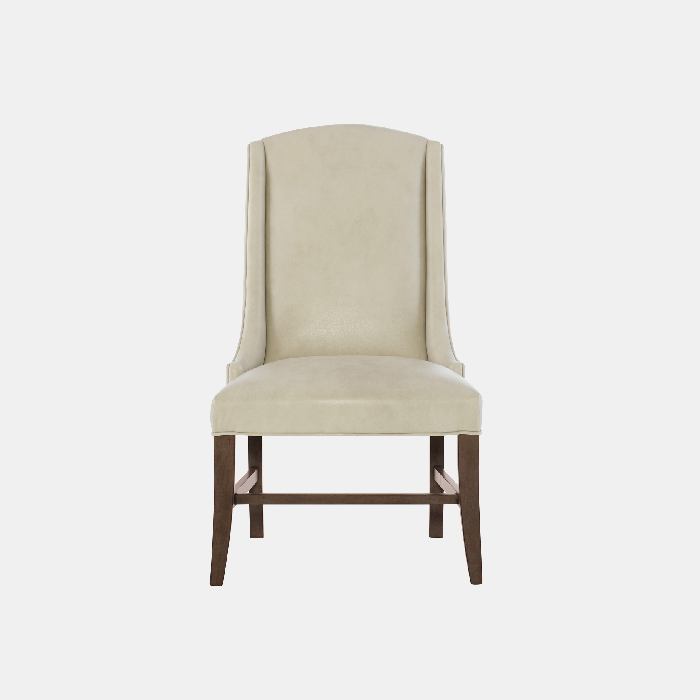 "Slope Leather Chair  24-1/2""w x 26""d x 42-1/4""h Legs available in cocoa (shown), chalk, and smoke. Available in fabric, leather, or COM. Also available as counter stool or bar stool. SKU0286BHT"