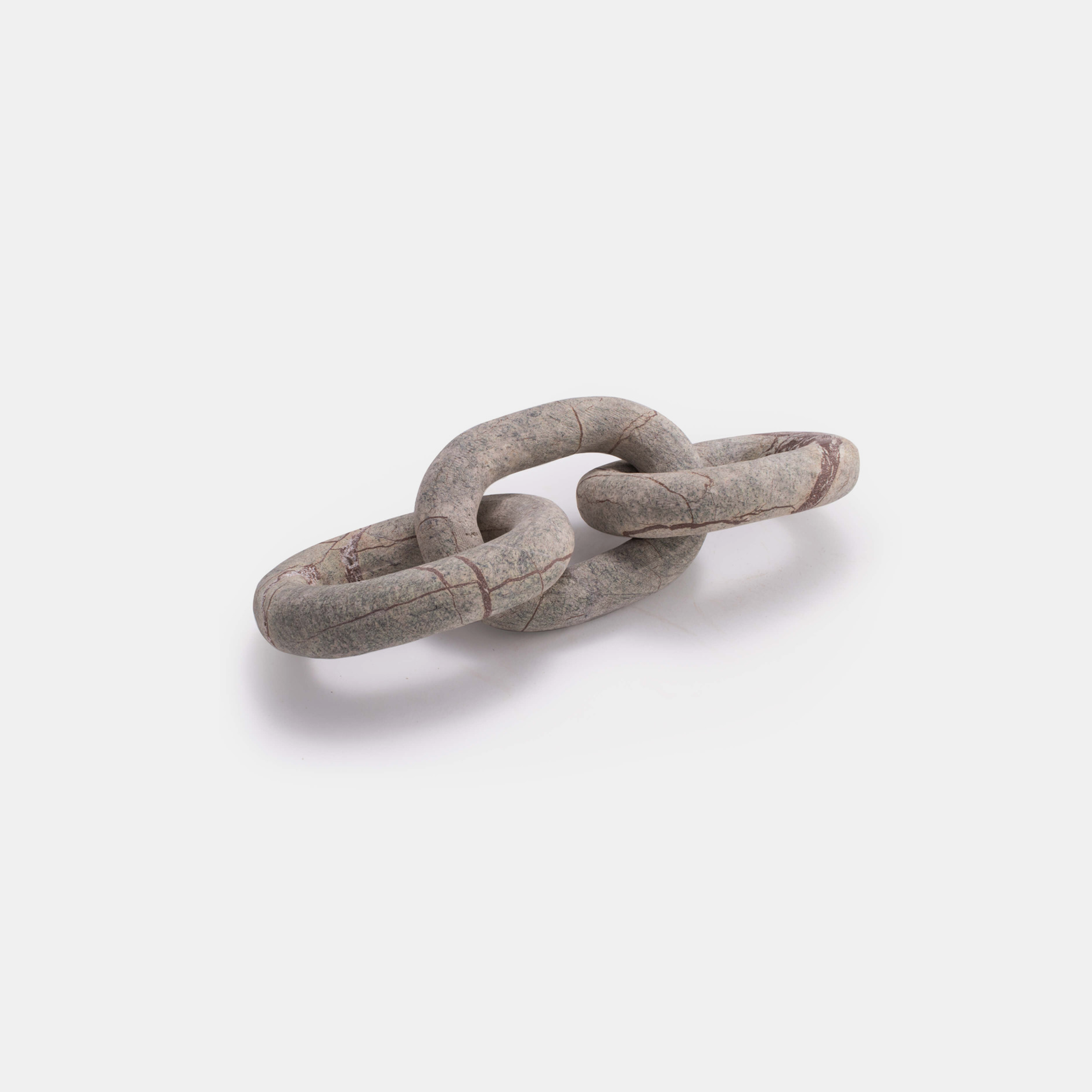 "Atlas Marble Chain  13.5""w x 4.5""d x 3""h Available in brown (shown) and white. SKU88773RAD"