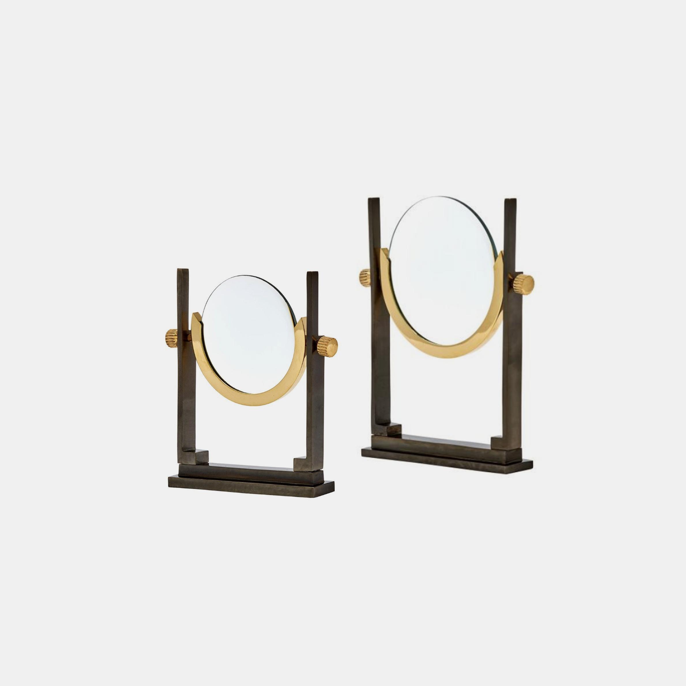 """Sagan Magnifying Glasses  Small: 6""""w x 1.5""""d x 7""""h Large: 7.5""""w x 1.5""""d x 9""""h SKU14393BGW"""