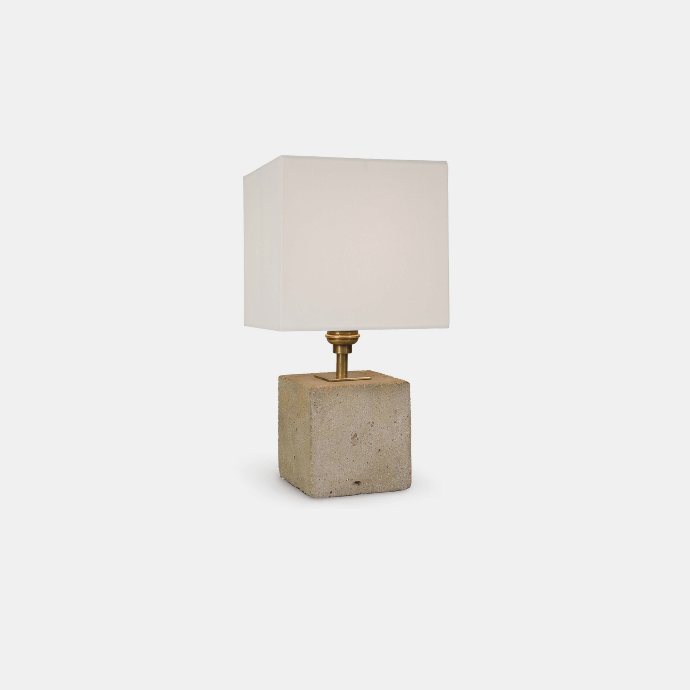 "Concrete Mini Cube Lamp  7""w x 7""d x 13.5""h SKU6653RAD"