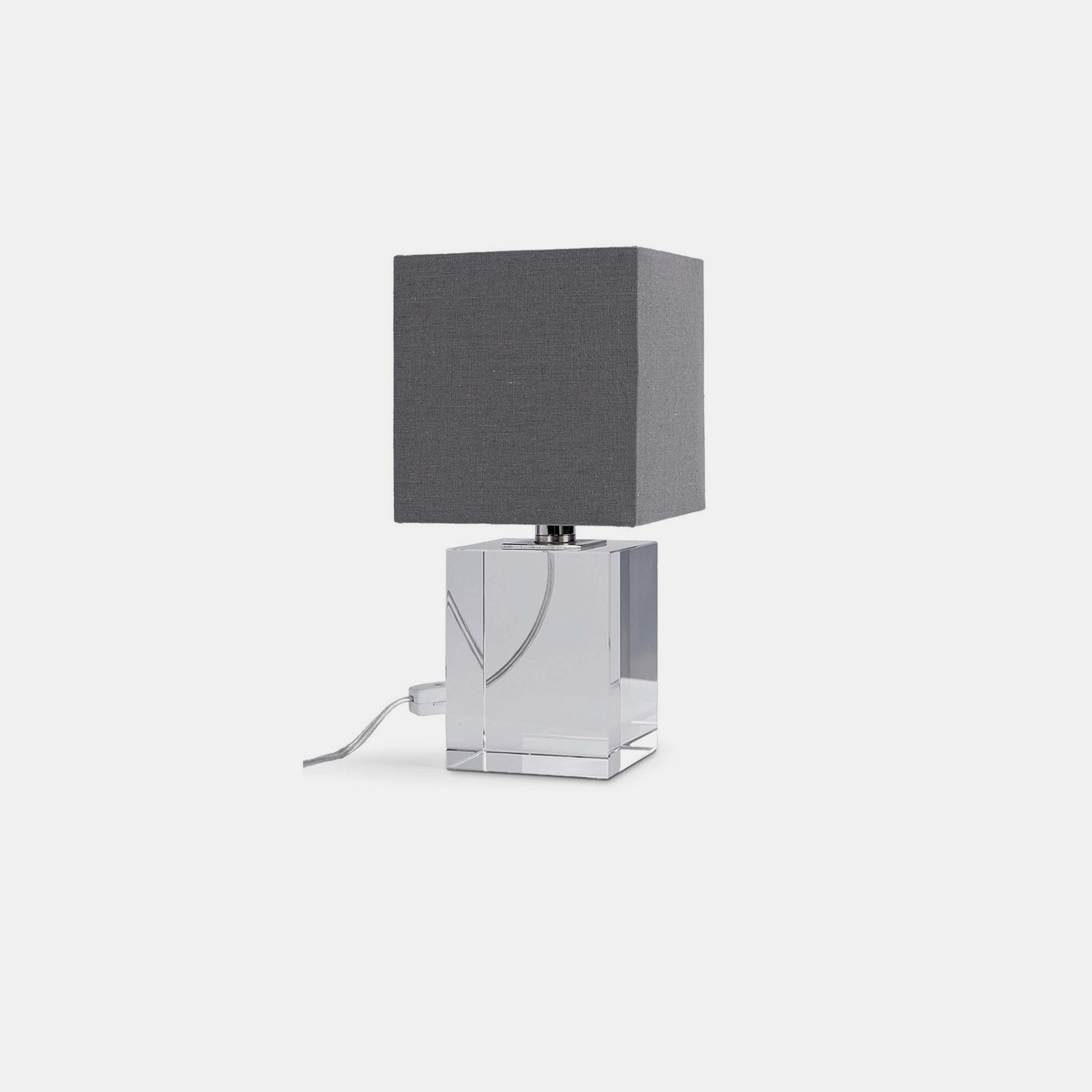 """Crystal Mini Block Lamp  6""""w x 6""""d x 12""""h SKU22284RAD"""