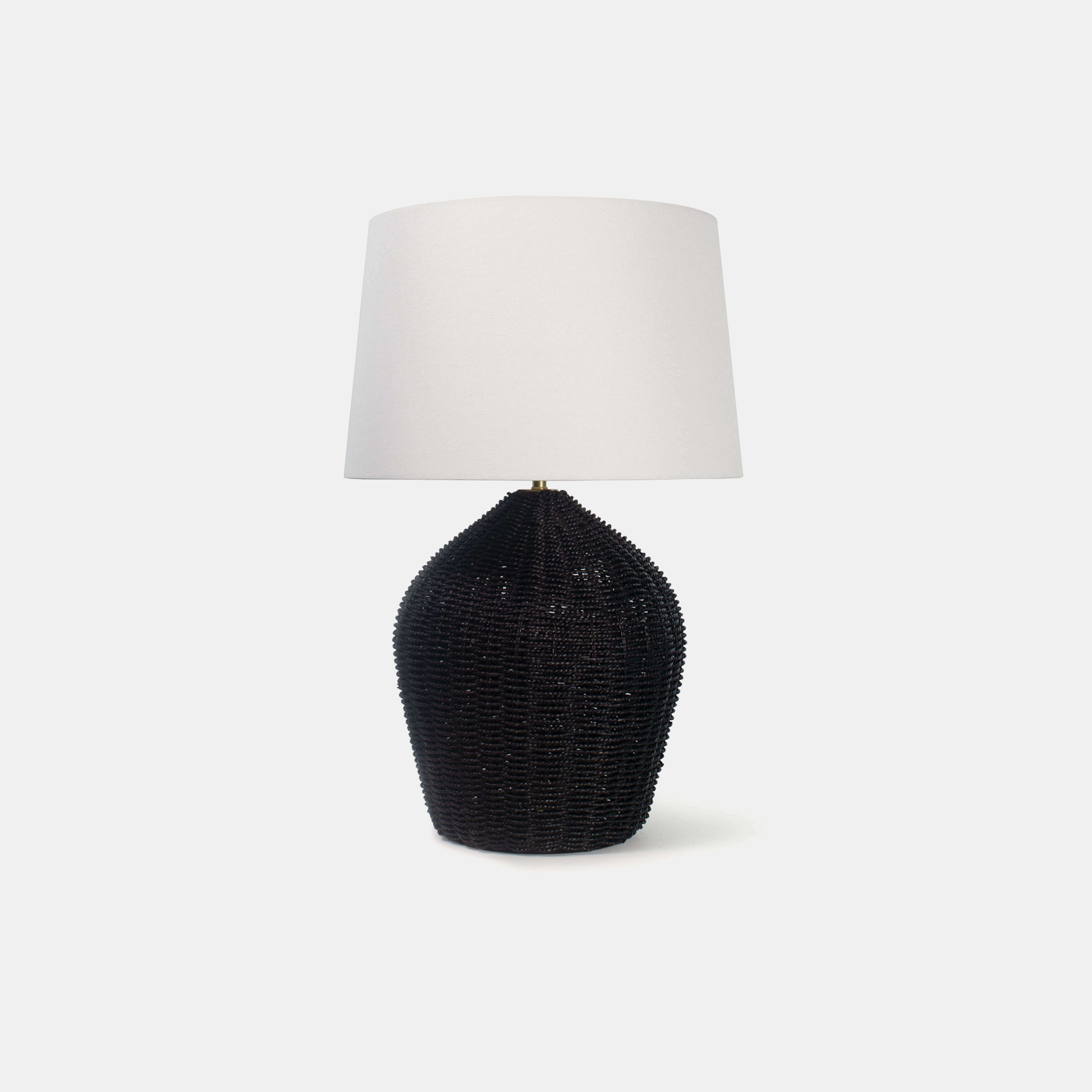"Georgian Table Lamp  17"" round x 27""h Available in natural, black (shown), and white. SKU6678RAD"