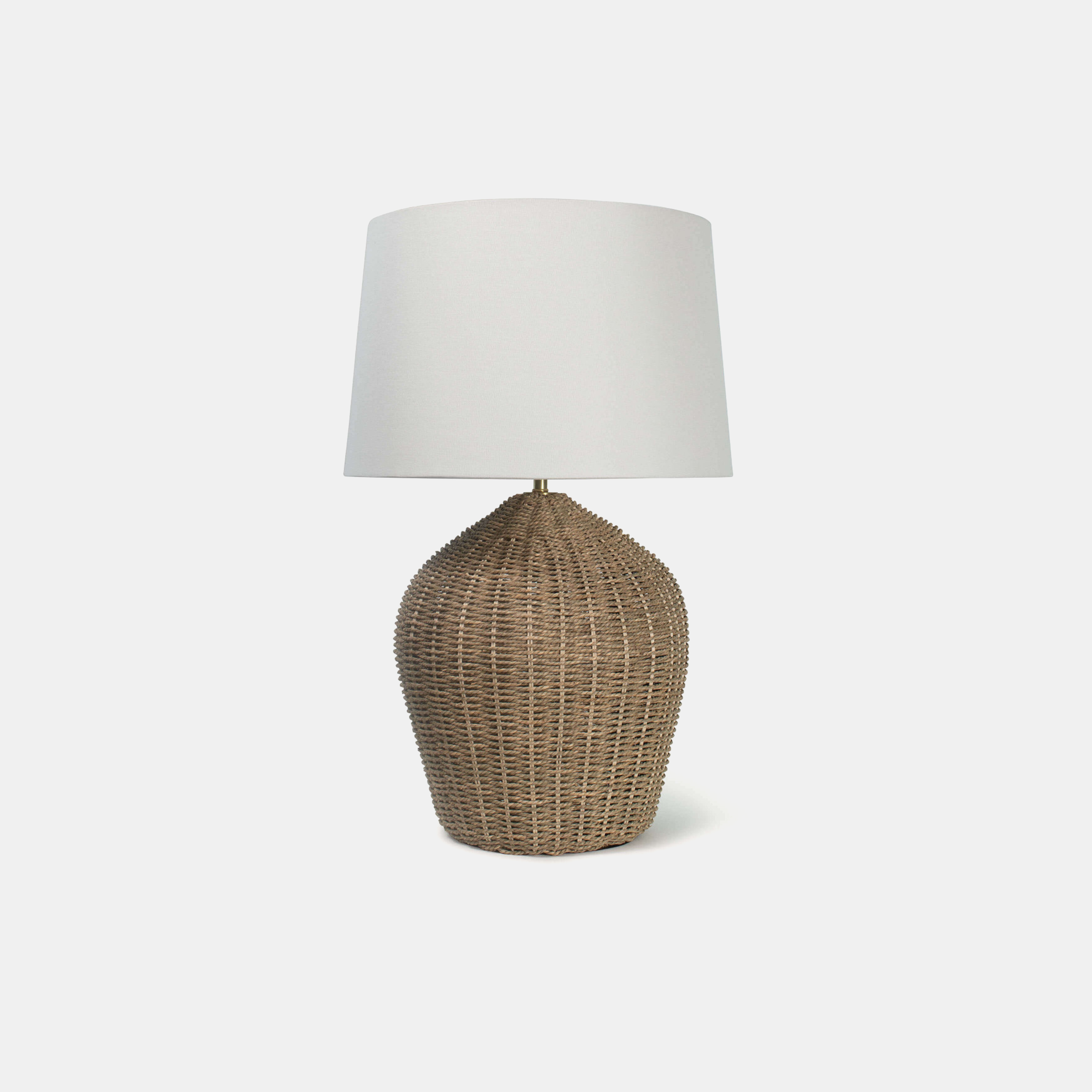 "Georgian Table Lamp  17"" round x 27""h Available in natural (shown), black, and white. SKU4891RAD"