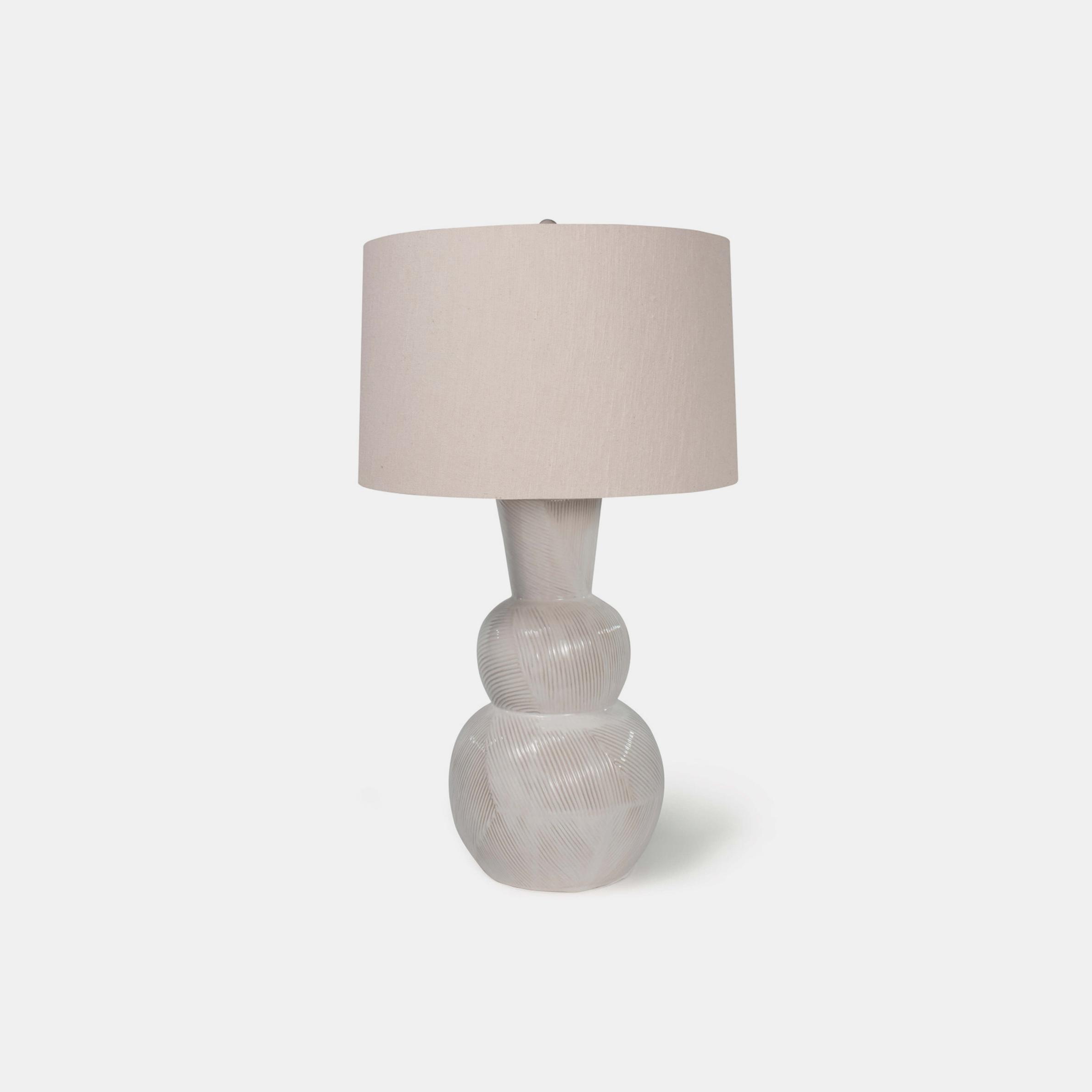 "Hugo Ceramic Table Lamp  18"" round x 31""h SKU48923RAD"