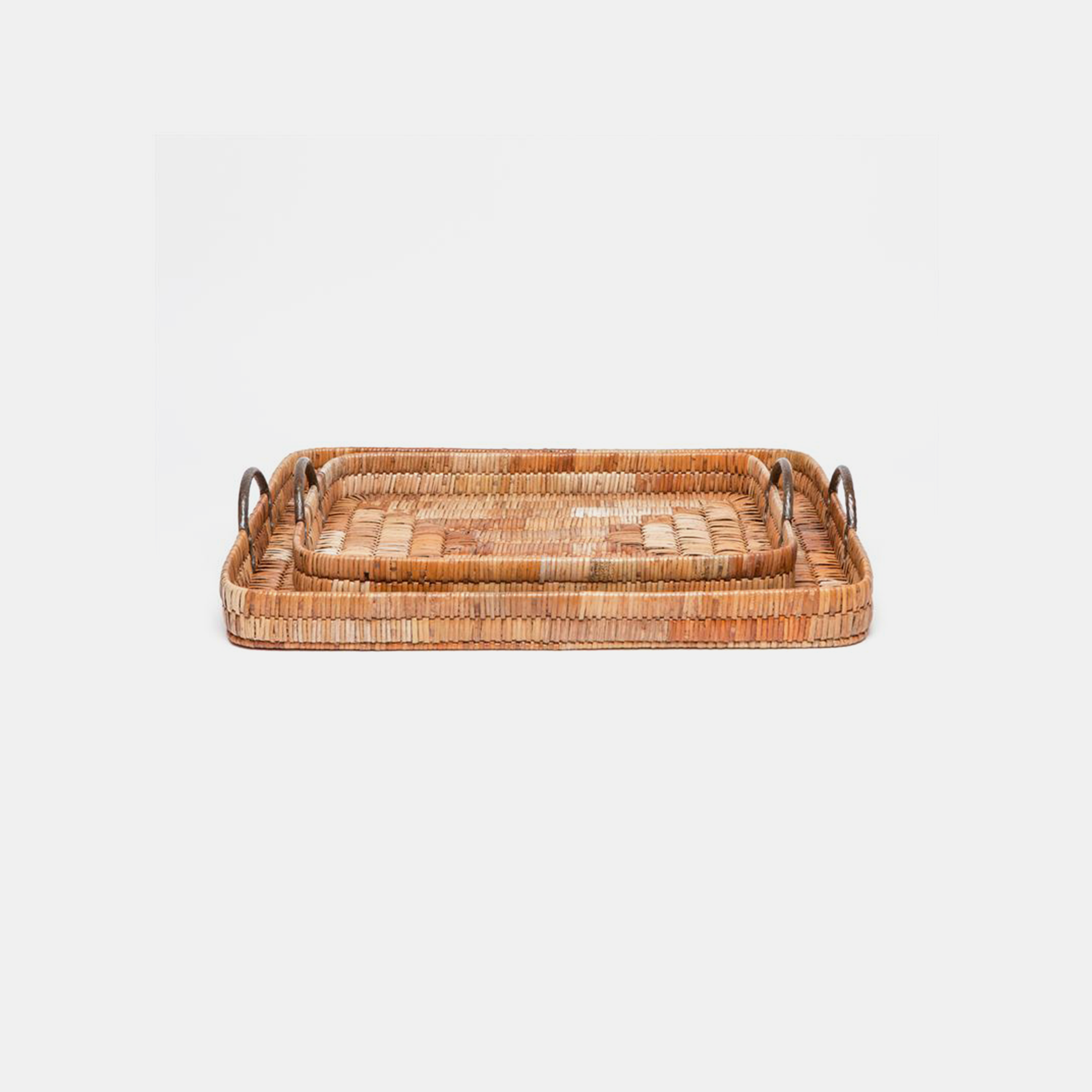 Royston XL Rectangular Trays  24''L x 18'' W x 5''H, 30''L x 24'' W x 5''H Also available as rectangular, square, or circular trays. SKU31388MGS