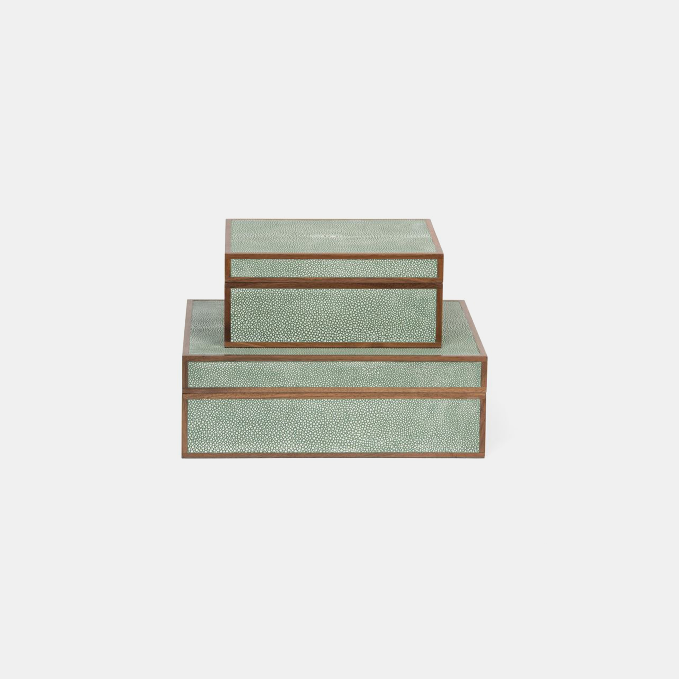 Cooper Boxes  Available in sage (shown), sand, gray, turquoise, ivory, snow, scarlet, navy, and dark mushroom. SKU2874MGS