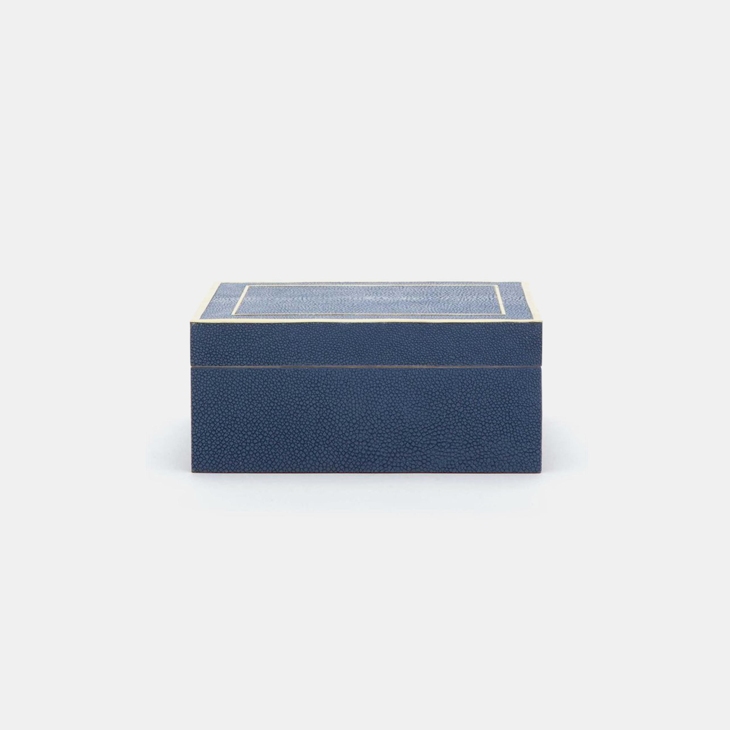 "Mateus Box  9""L X 7""W X 4""H or 12""L X 10""W X 5""H Available in navy (shown), snow, sand, or dark mushroom. SKU39238MGS"