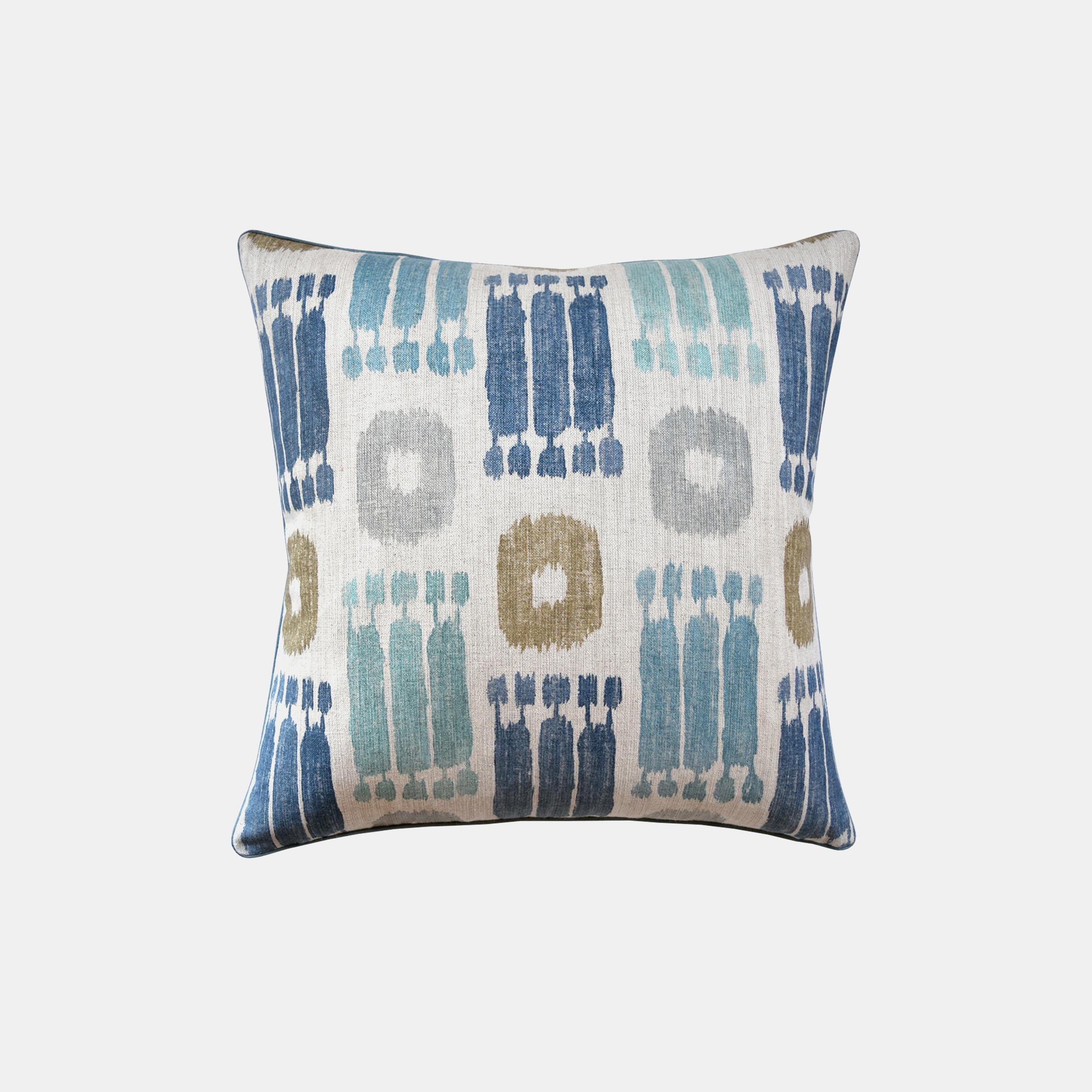 """Pichu Pillow in Bluestone  22""""sq SKU5923RYS"""