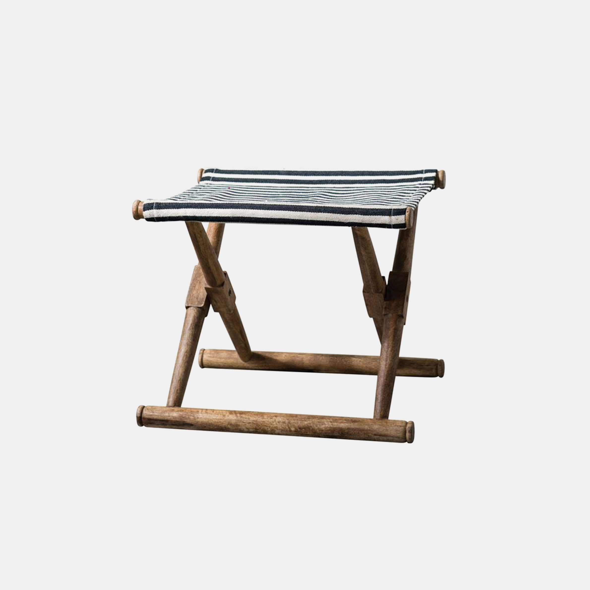 "Mango Wood Folding Stool  21""L x 18-1/2""W x 17-1/2""H SKU24839CCO"