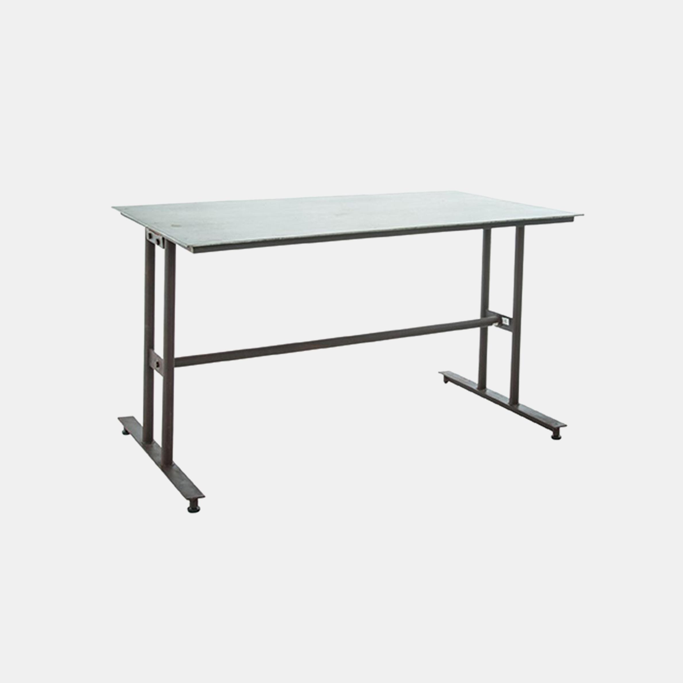 "Galvanized Metal Table  51""L x 31""W x 29""H SKU4892CCO"
