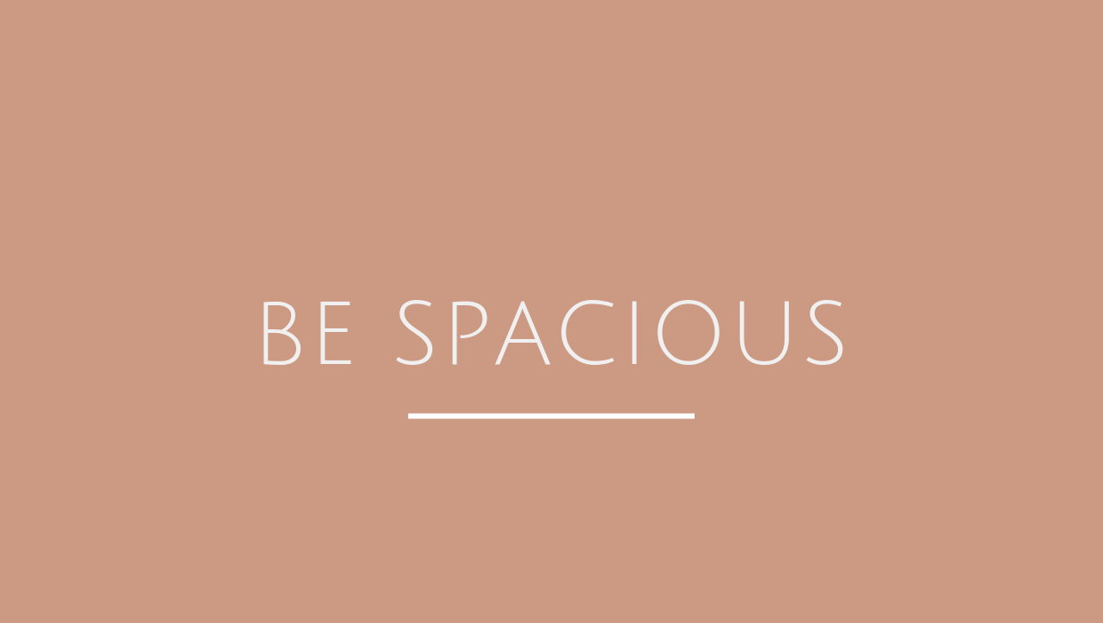 Be Spacious Leadership Program - Be Spacious is our signature leadership program. The self-aware leader knows what drives him or her, navigates relationships with emotional intelligence, and leads high performance. Read more.
