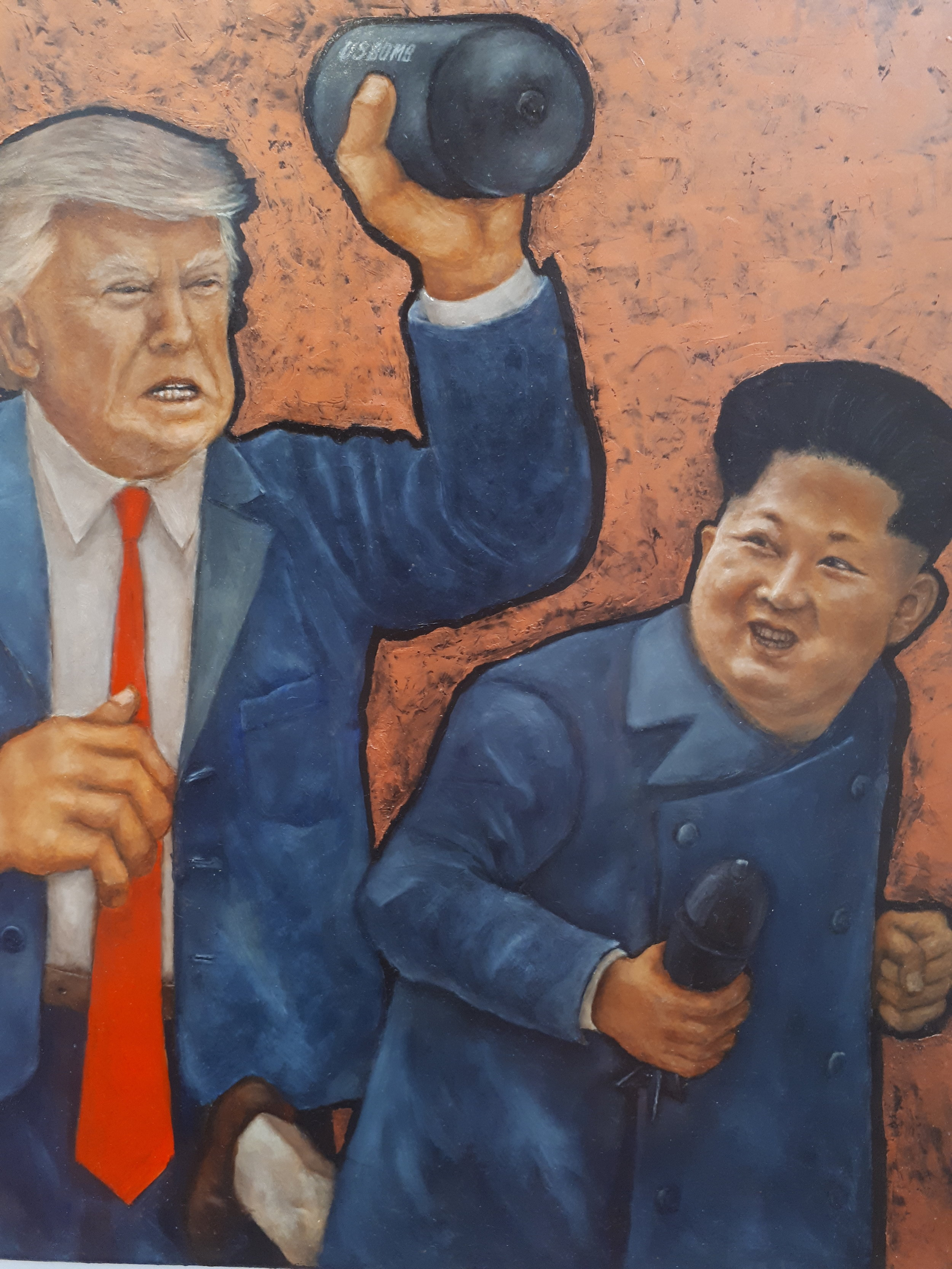 Nunzio Capece - Trump and Kim - will be presented in May at AFFORDABLE ART FAIR LONDON HAMPSTEAD