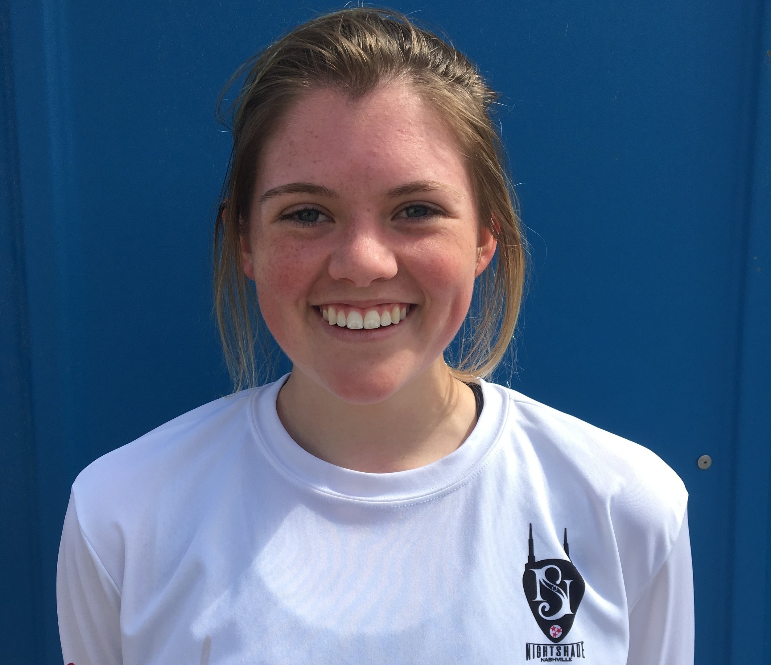 Nettie Stanfield   Nettie captained the high school Hornets for 3 years and the Unicorns for a single year, placing 9th at Nationals and 1st in state for girls teams that year. Nettie is currently a freshman student and player at Johnson University in Knoxville and studies English. Aside from playing ultimate, she enjoys hanging out with animals, writing, and watching ultimate highlight reels.