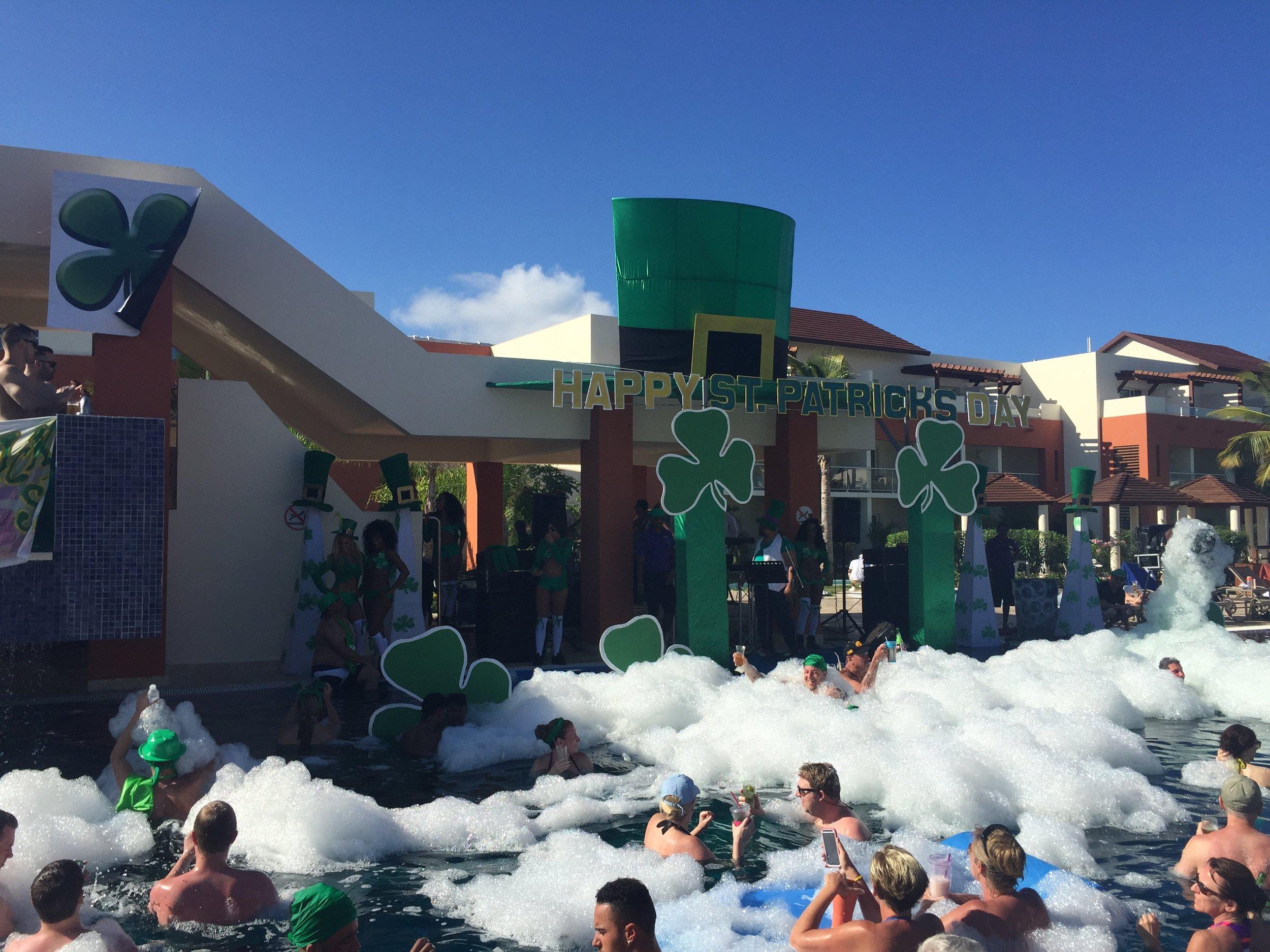 The regular foam parties were lots of fun!