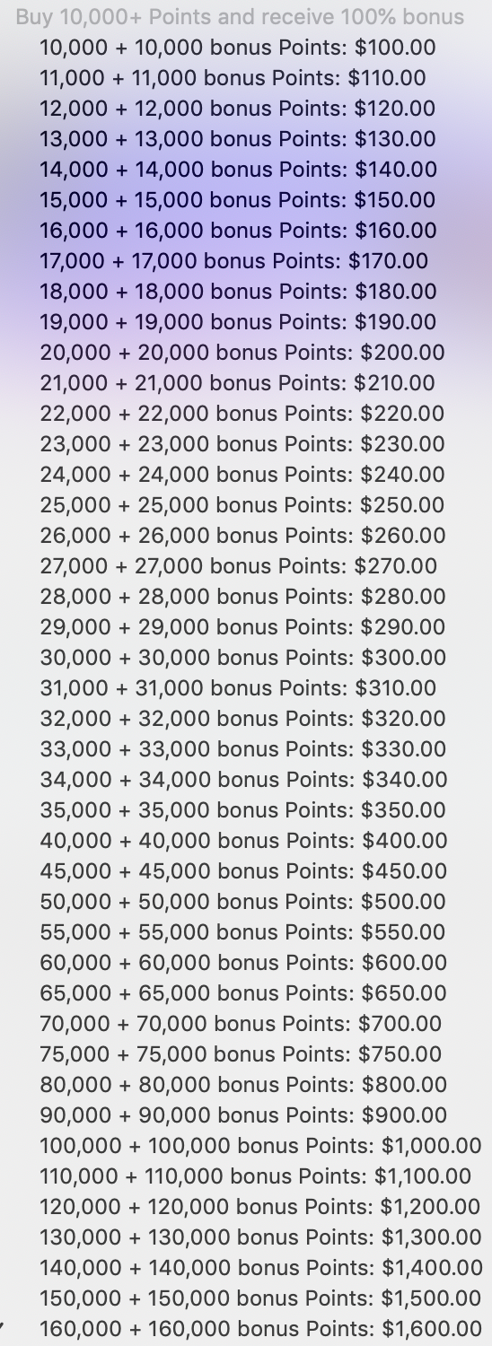The latest Honors points promotion makes buying points much better value.