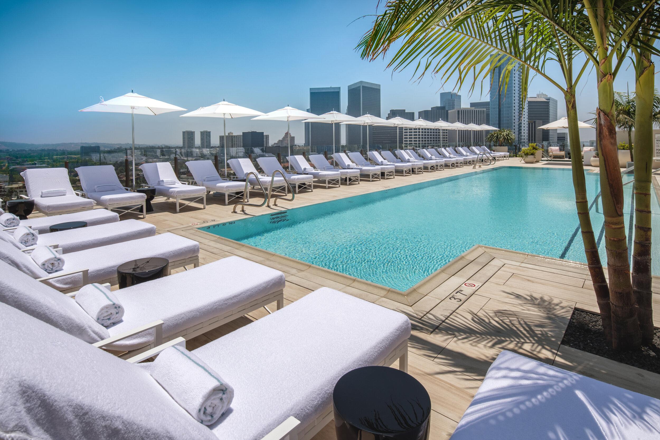 Waldorf Astoria Beverly Hills rooftop pool