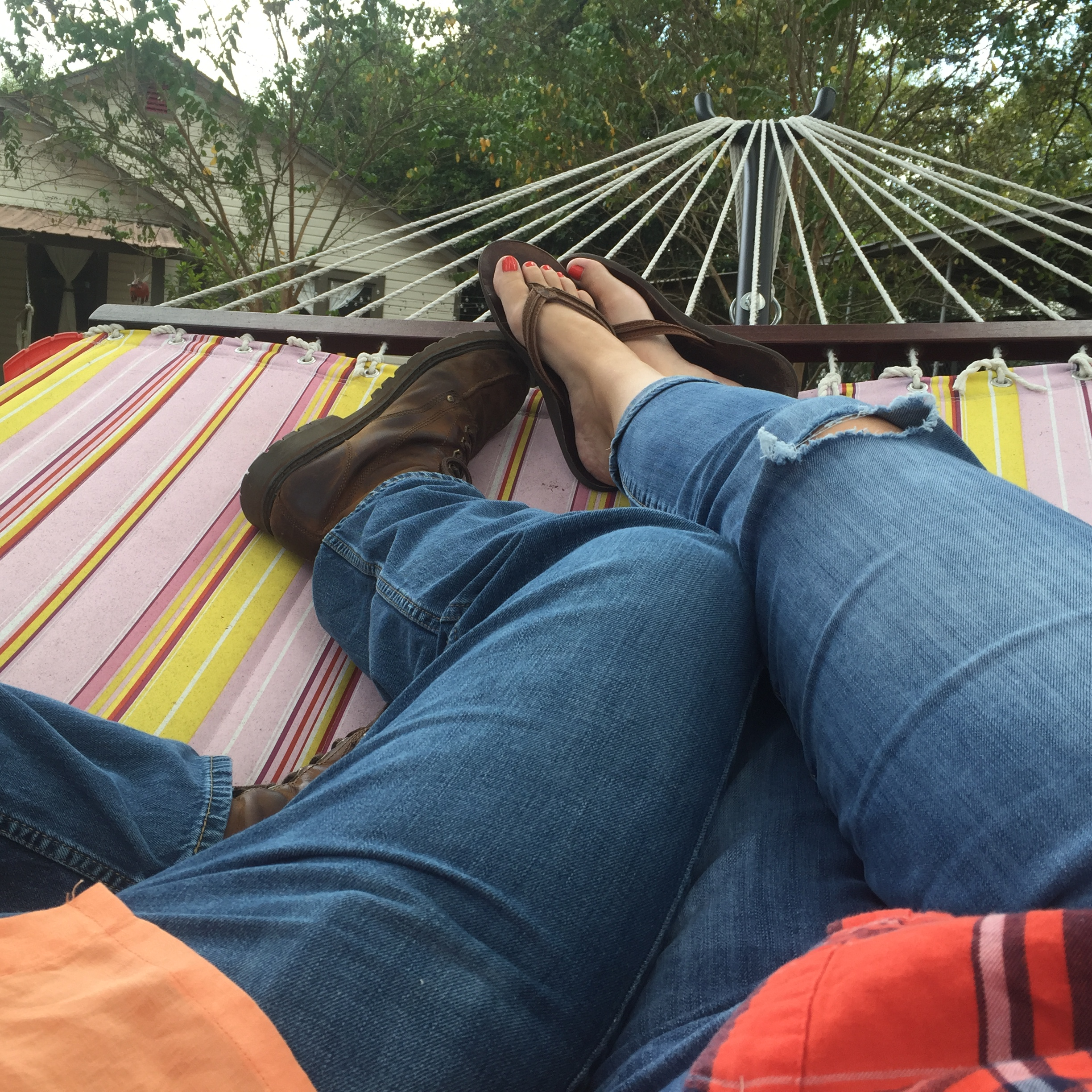 hammock happy place - preferably with my Boy or a good book or both