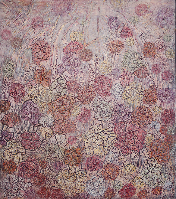 Durch die Rosen  118 x 133 cm