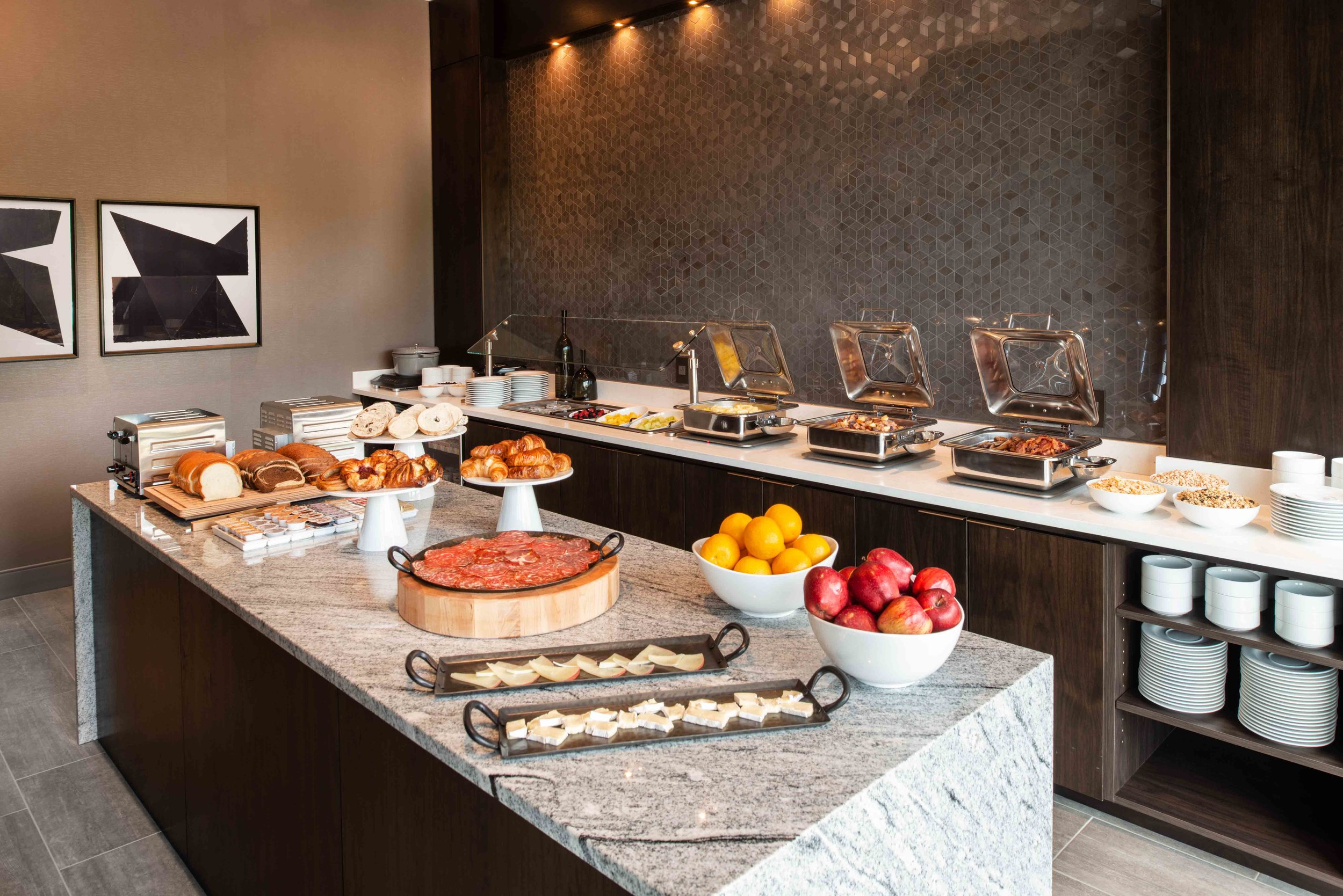 Guest enjoy complimetnary breakfast buffet every morning.