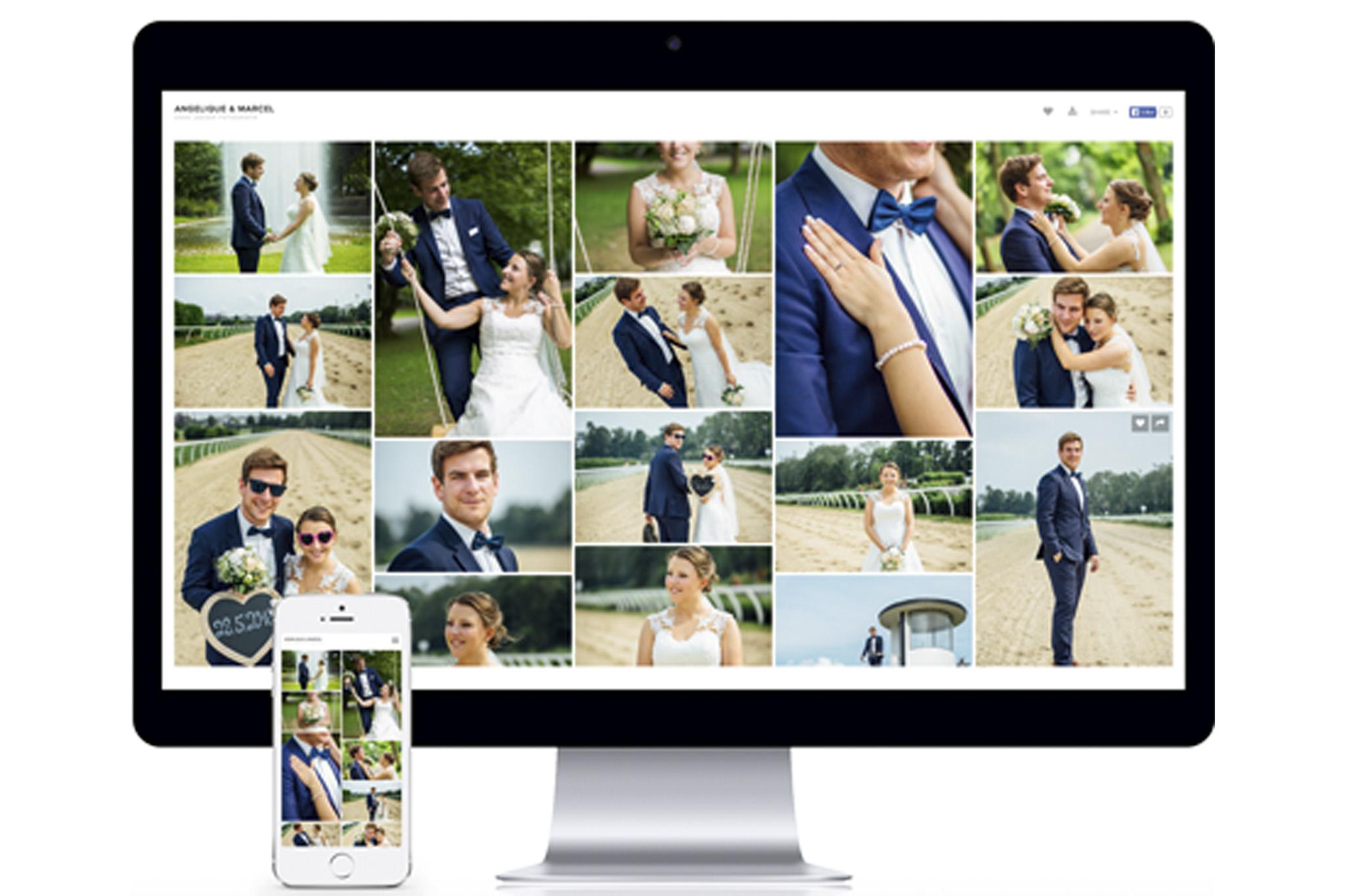 Onlinegalerie - Sobald die Fotos fertig bearbeitet sind, bekommst du von mir einen Link und dein Passwort zugeschickt. Damit hast du Zugriff auf deine persönliche, passwortgeschützte Onlinegalerie, wo du dir die Fotos anschauen und herunterladen kannst. Auf Wunsch ist es sogar möglich, die Fotos gleich als hochwertige ausbelichtete Abzüge zu bestellen. Und das beste ist, dass es, sowohl vom PC aus als auch vom Smartphone oder Tablet, perfekt funktioniert.