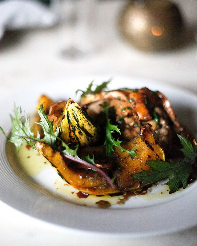 Italian comfort food is not limited to pasta- try our glazed acorn squash with roasted mushrooms, stewed farro, and lemon honey. Delicious and veg centric!
