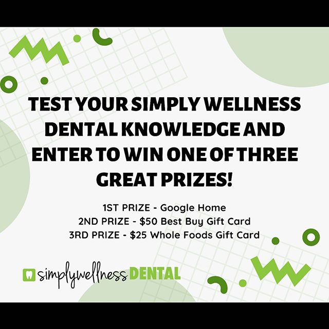 *TODAY IS THE LAST DAY TO ENTER* . . It takes three easy steps:  1. Click the link in our bio  2. Test your Dental knowledge 3. Enter in your name and email  And you'll be entered to WIN one of the three prizes above! . . #burnaby #burnabyheights #dental #dentalassistant #toothbrush #floss #dentalcleaning #dentallife #dentaloffice #dentalhygiene #northburnaby #tooth  #free #freebies #giveaways  #instagiveaway #instacontest #google #bestbuy #wholefoods #giftcards