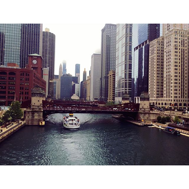 View from the L #chicagoriver