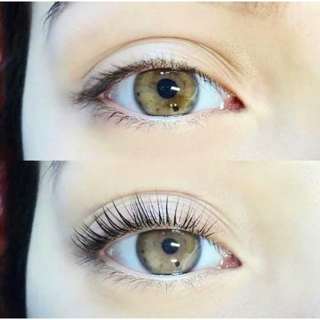 """Eye Lash Lift and Tint - LIfting and Tinting is the process of """"perming"""" the natural lash, and tinting the lash with color specially designed for use on the lash. A lift and tint will great natural volume, and is a great option for clients who do not want upkeep of extensions, or who have sensitivities to lash extension glue. This services takes about an hr and lashes for upto 8 weeks depending on the clients shedding speed."""