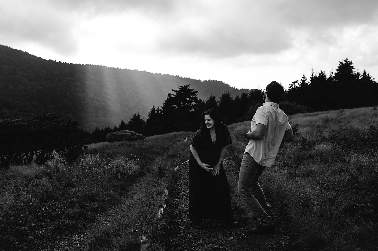 Summer Mountain Adventure Maternity Session Roan Mountain Tennessee