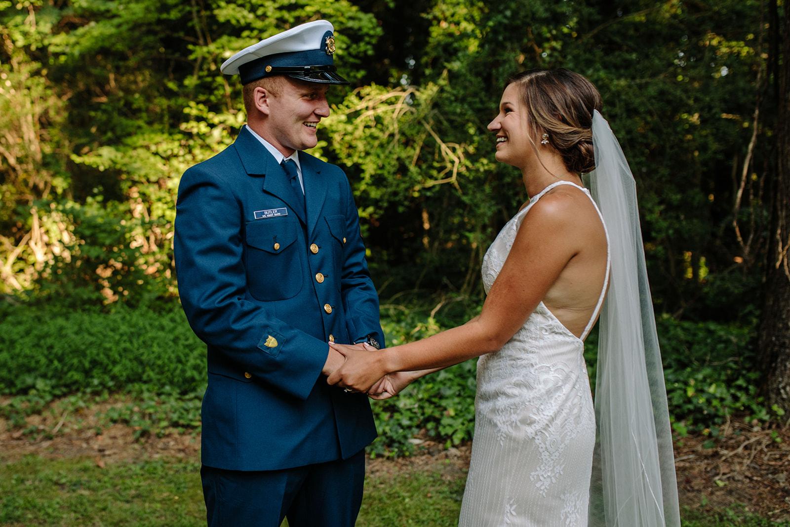 Hampton Roads Military Elopement Wedding Photographer