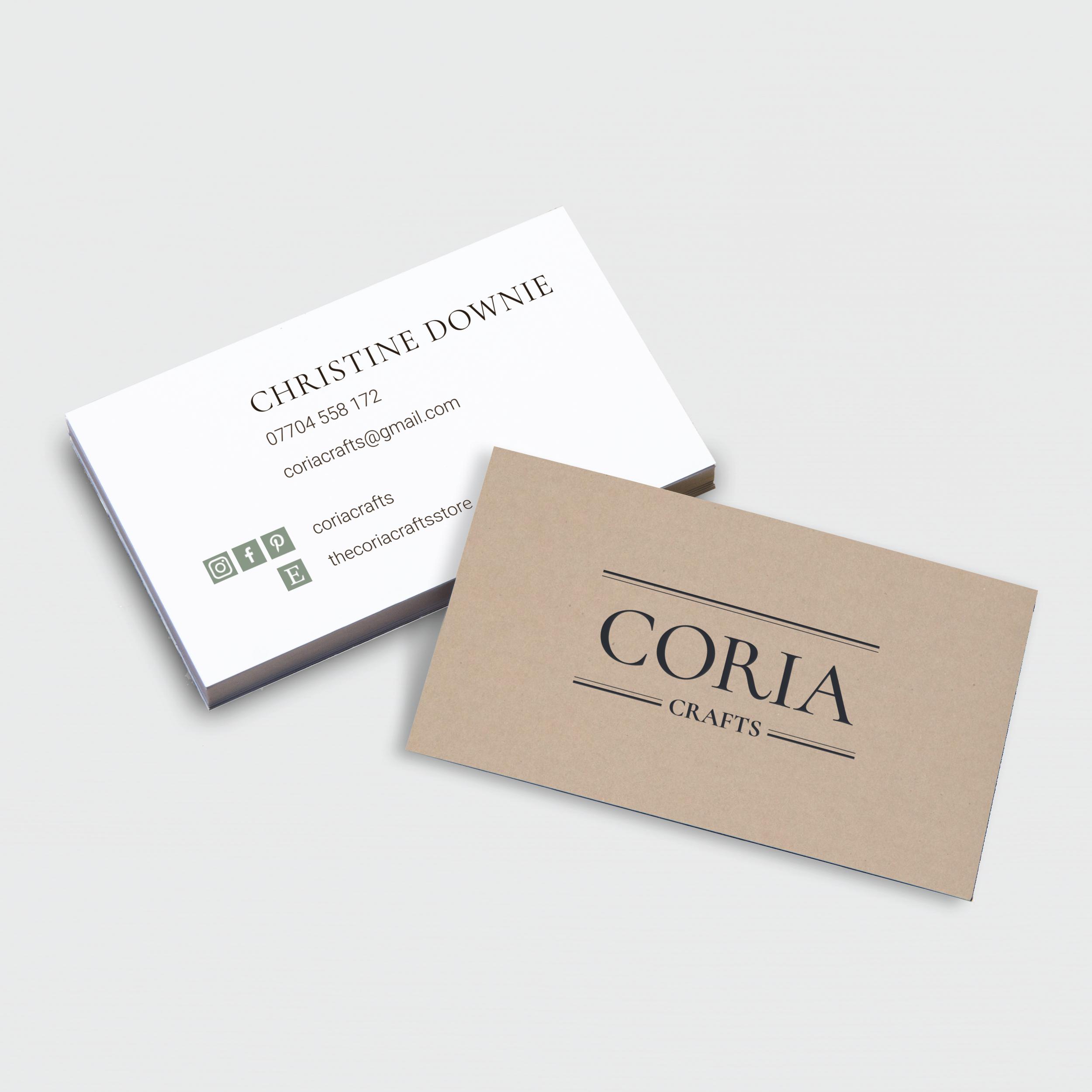 Coria Crafts Business Cards