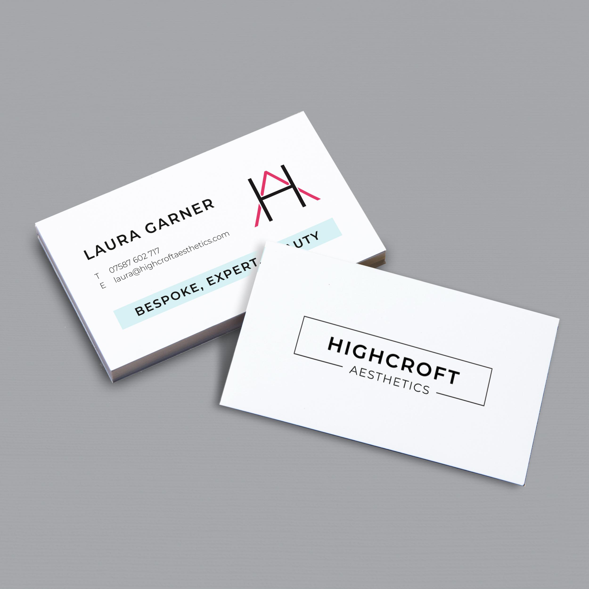 Highcroft Aesthetics Business Cards