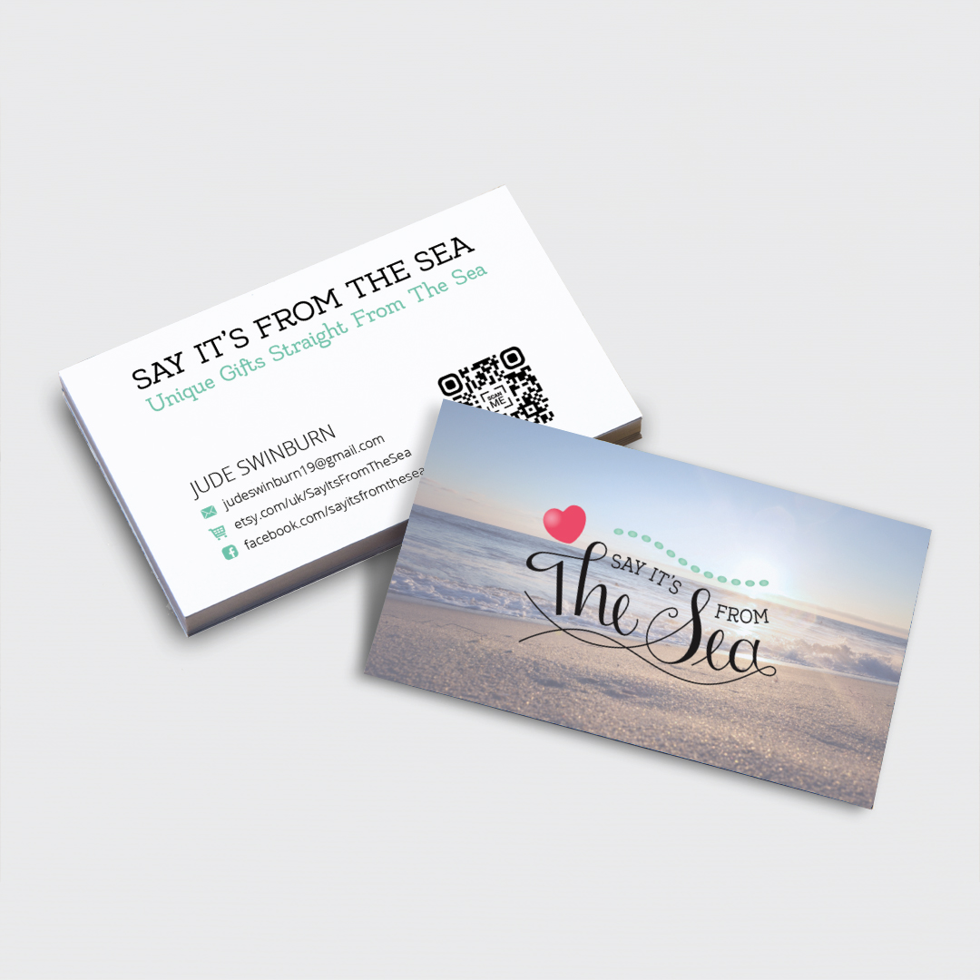 Say It's From the Sea business cards
