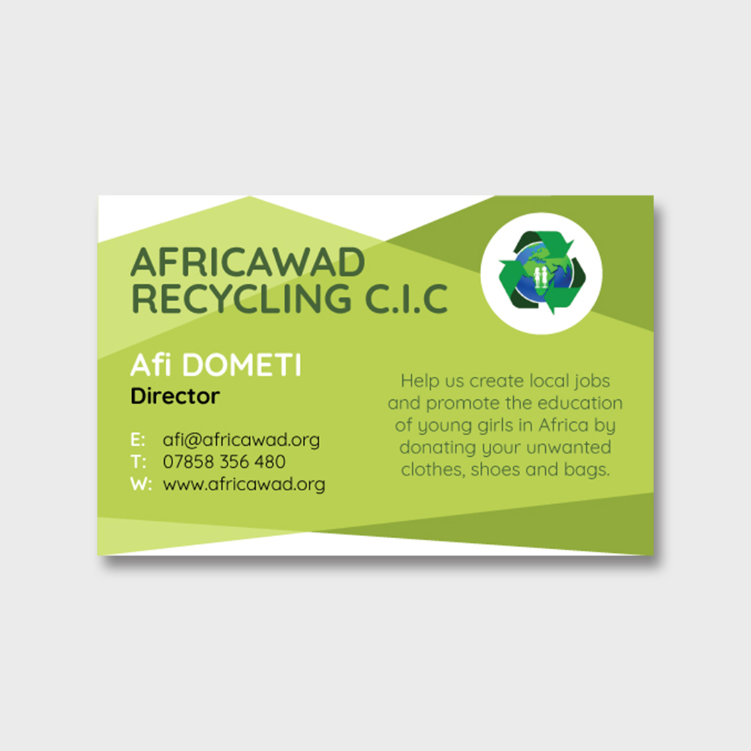 Africawad Recycling Business Cards