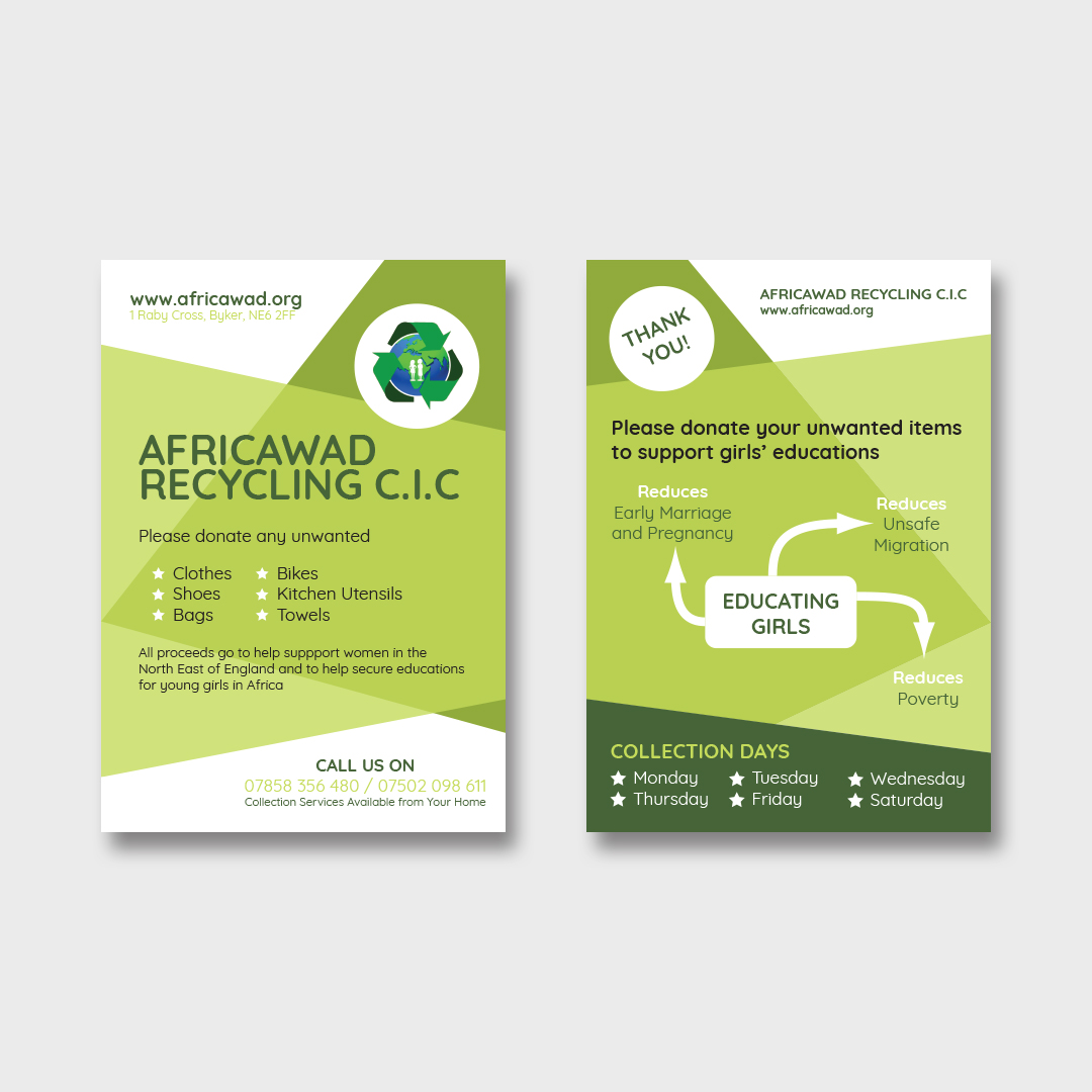 Africawad Recycling Flyers