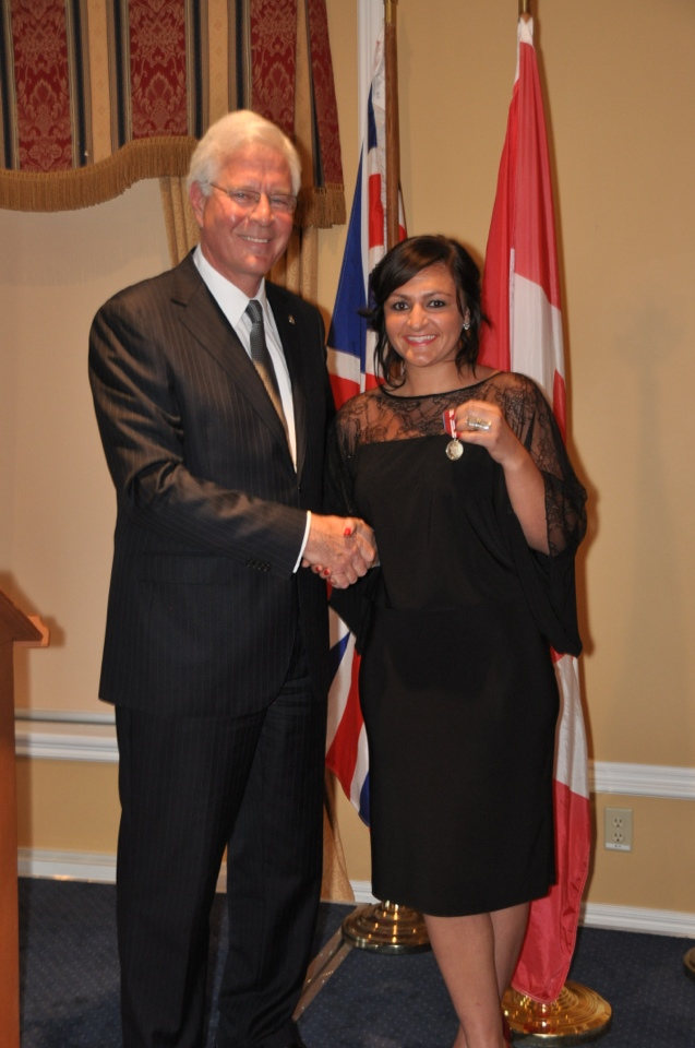 2013 Queen Elizabeth Diamond Jubliee Medallion with MP Terence Young
