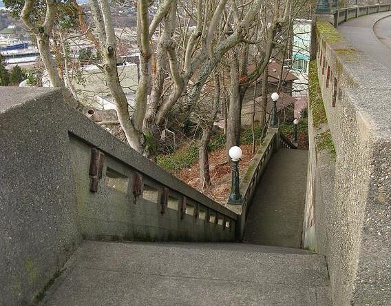 Wilcox Wall stairs. Photo Courtesy  wikimapia.org .