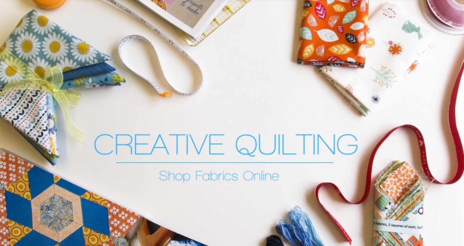The  Creative Quilting  website landing page that baby-faced Lorna created