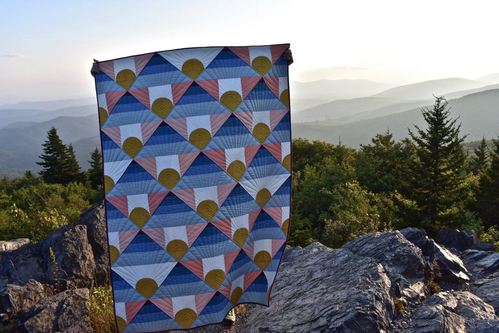Mountain Horizon by Brittany Lloyd (Lo & Behold Stitchery)