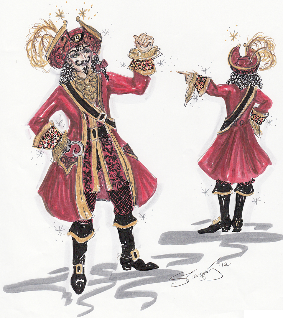 Costume Rendering for Captain Hook